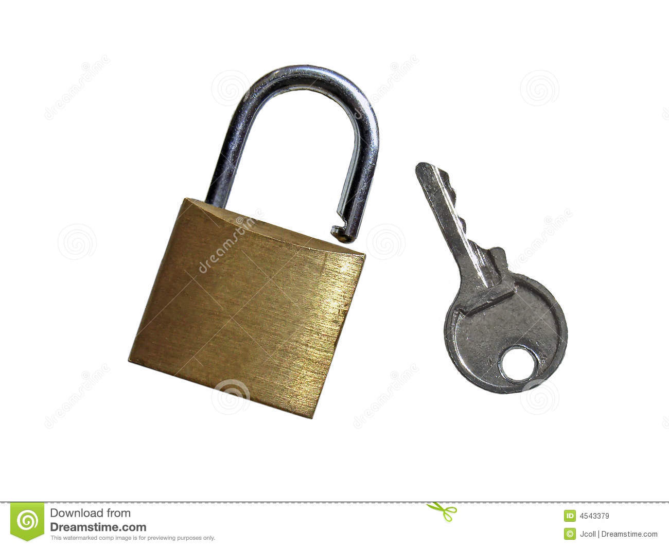 Padlock And Key Royalty Free Stock Images Image 4543379