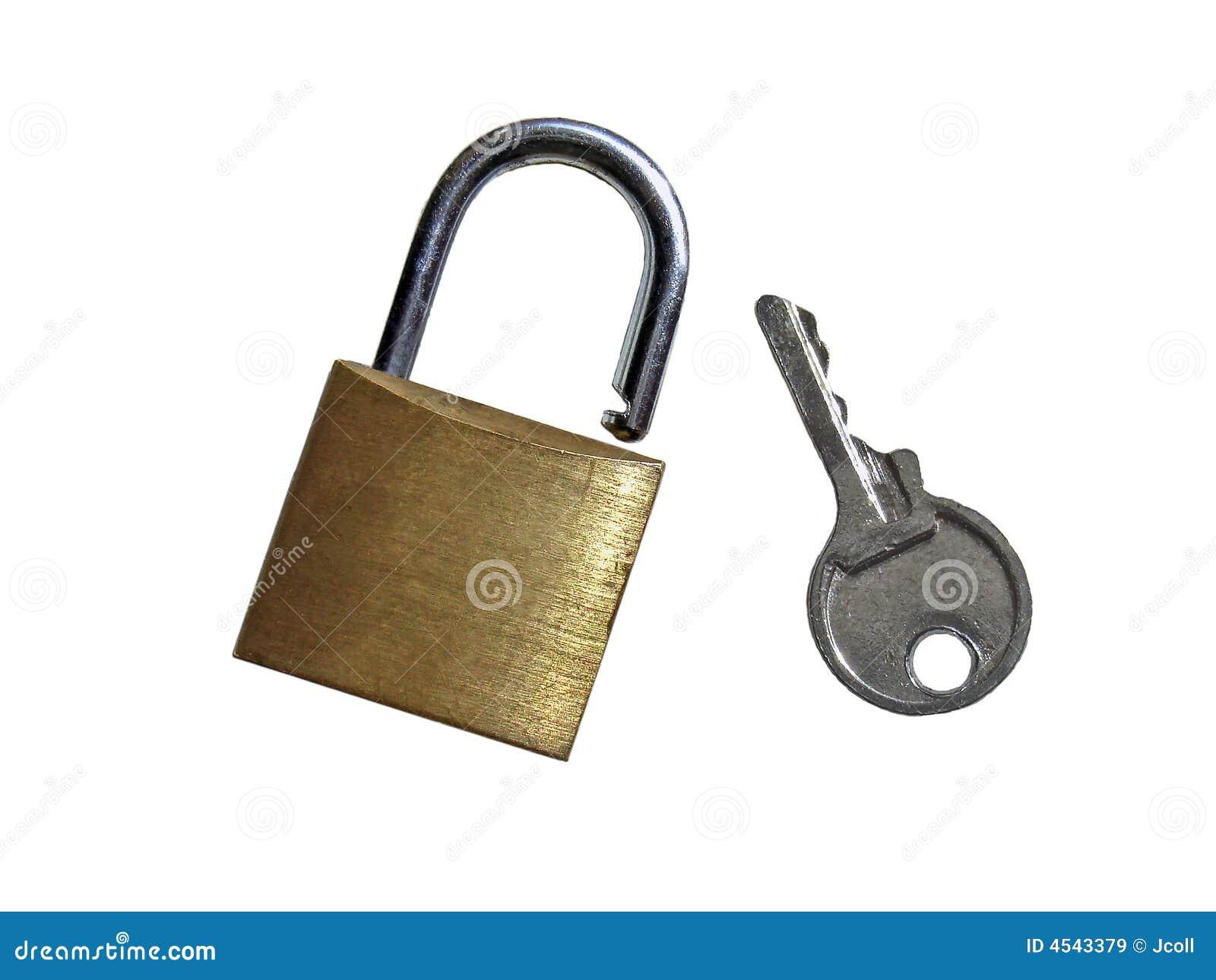 Padlock And Key Stock Image Image Of Iron Locked Bolt