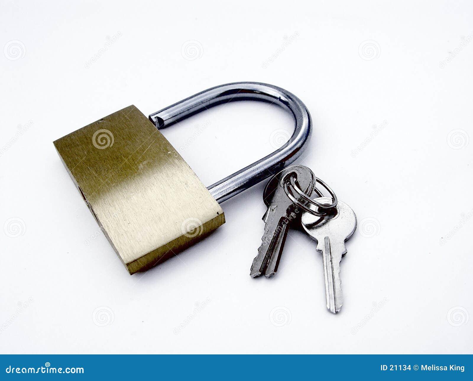 Padlock and Keys