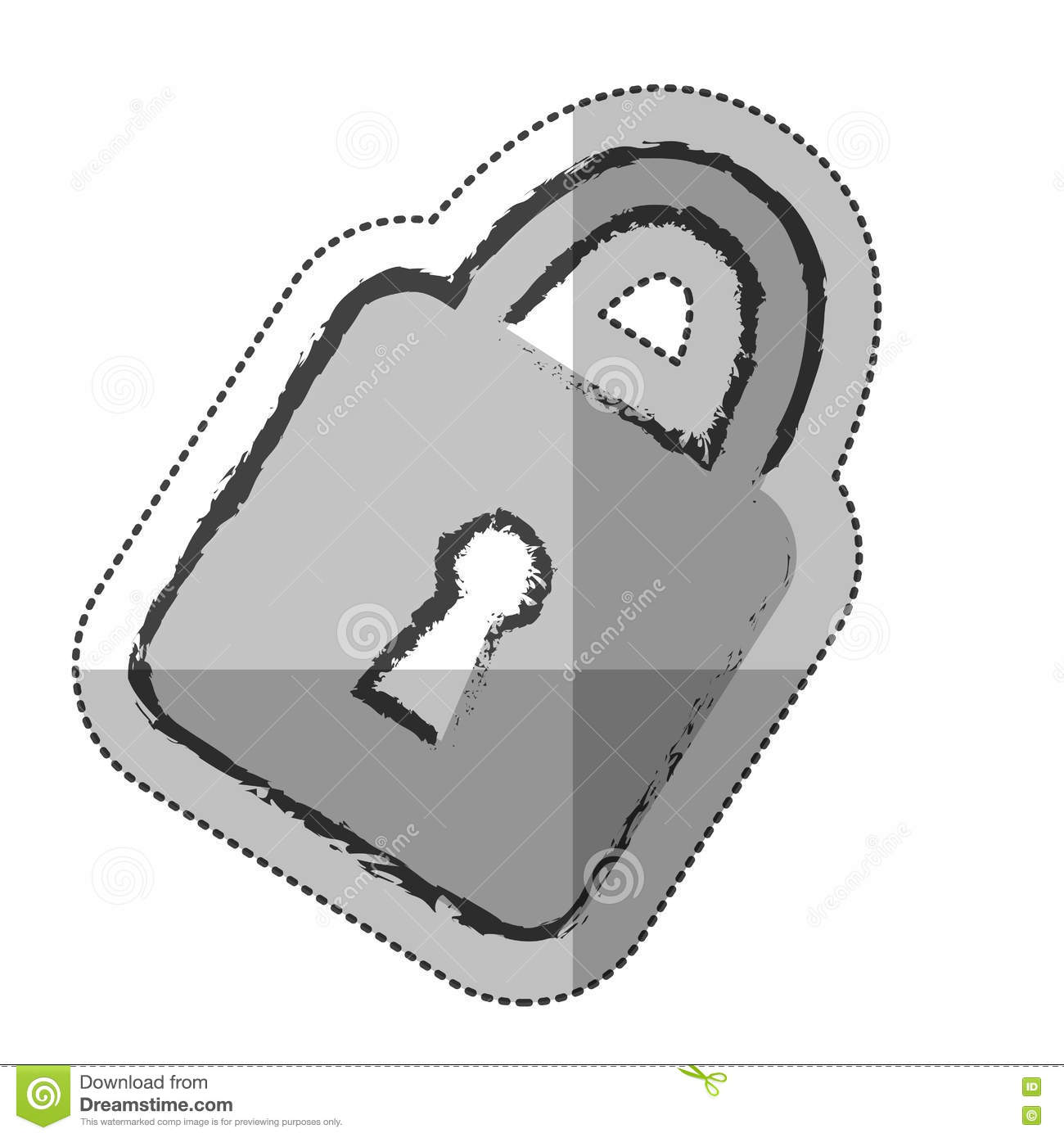 Padlock security safe stock vector  Illustration of object