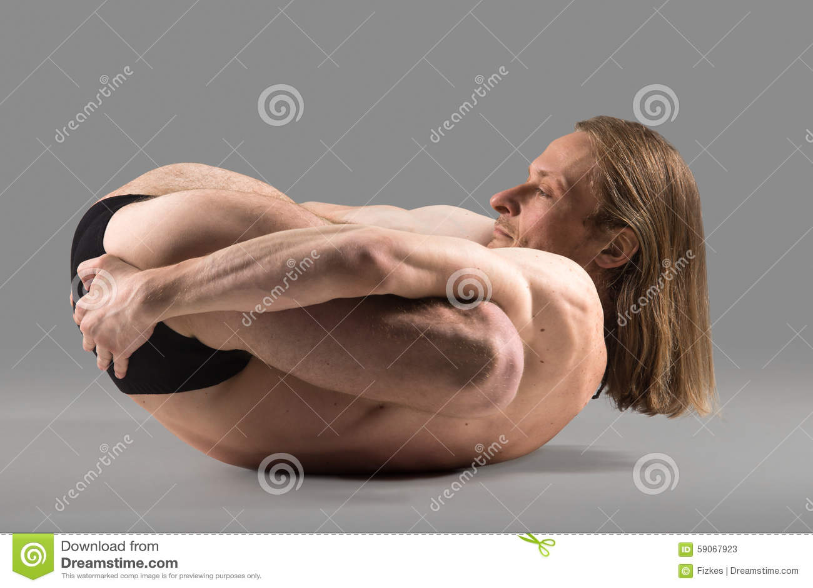Padma Yoganidrasana Pose Stock Photo - Image: 59067923