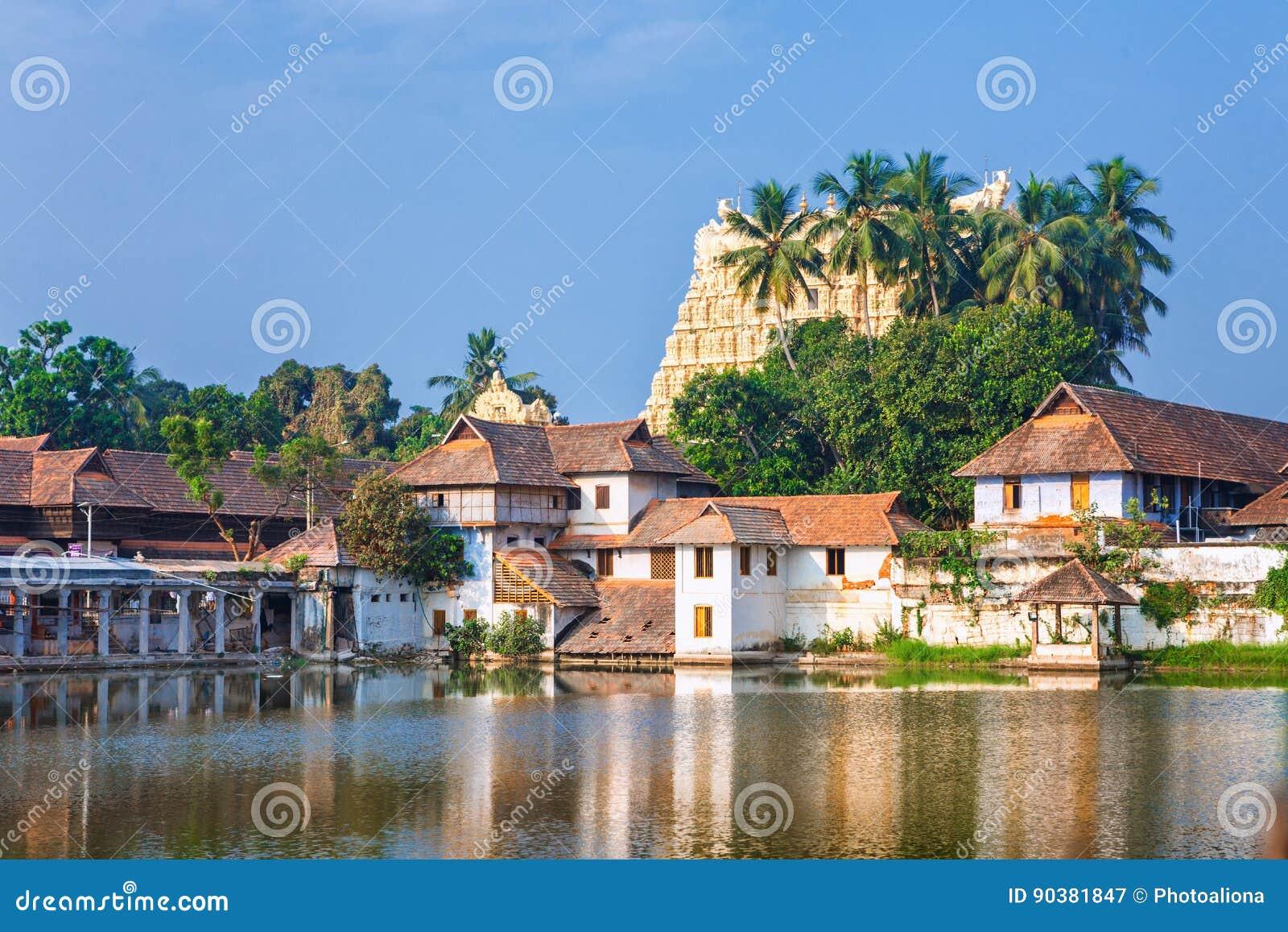 Padmanabhapuram slott framme av den Sri Padmanabhaswamy templet i Trivandrum Kerala Indien