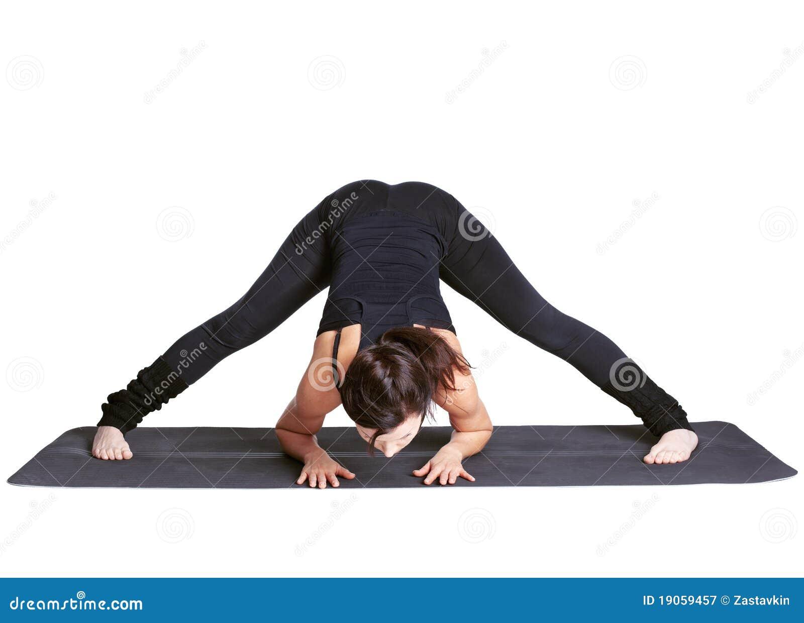 Padottanasana excercising do prasarita da ioga