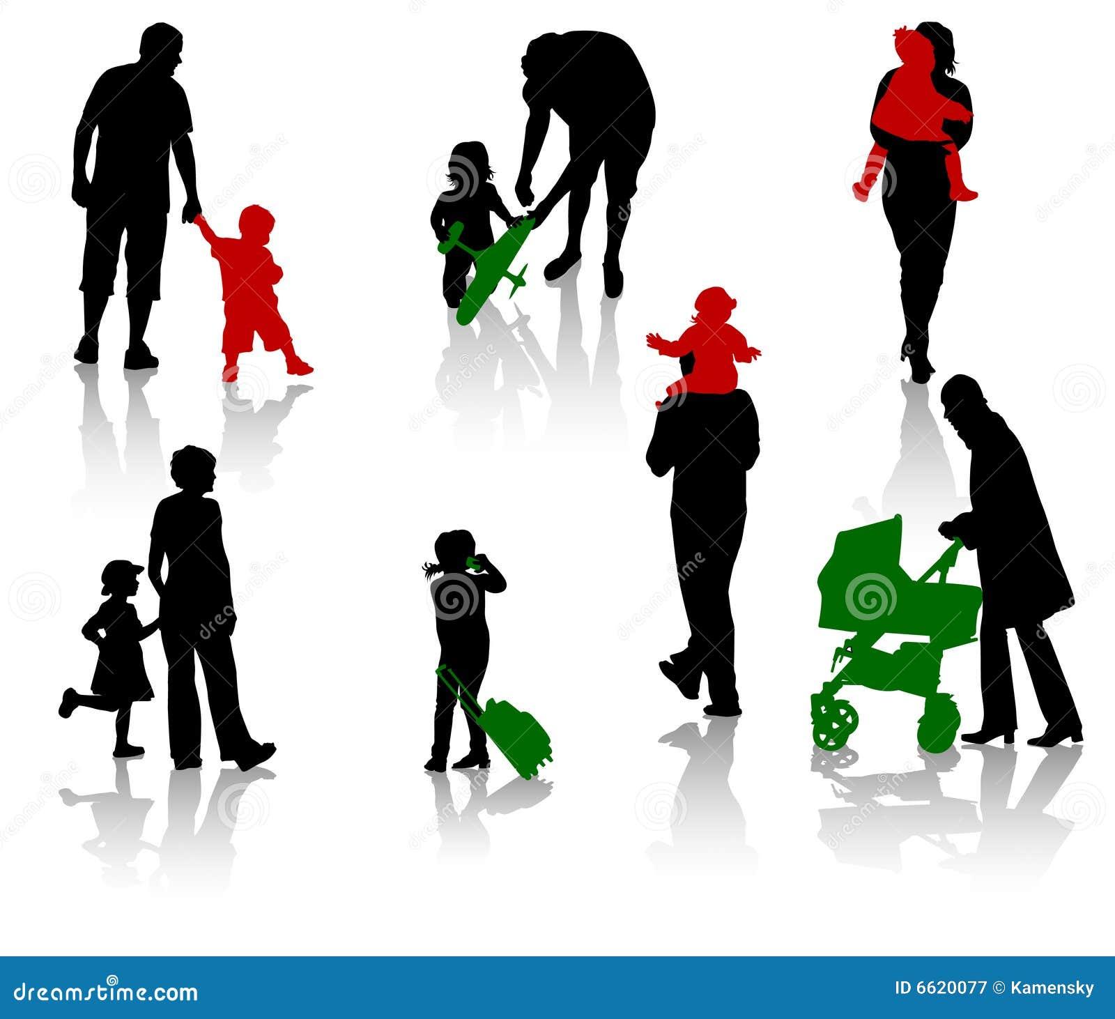 Padres con los niños