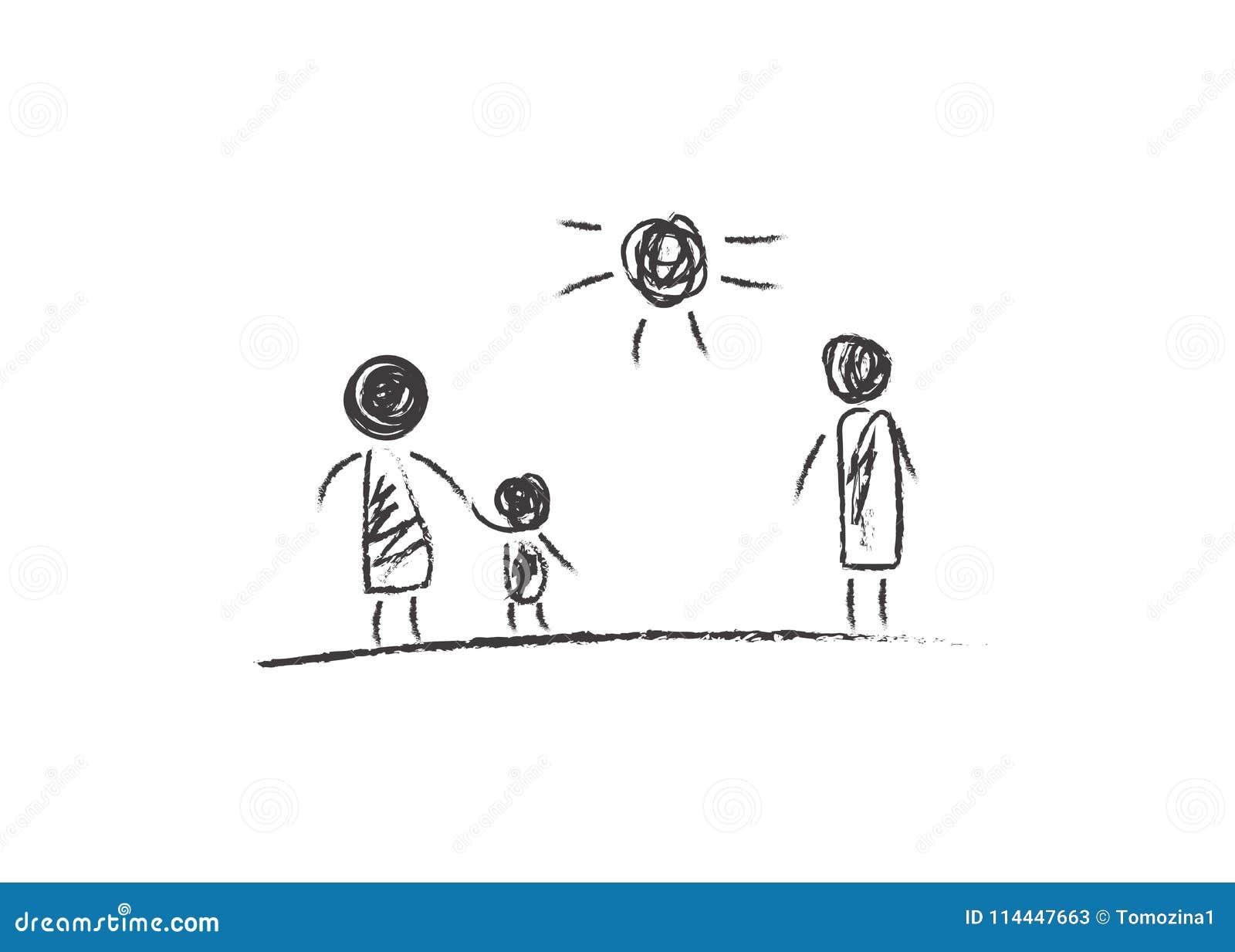 Padres del divorcio, dibujando