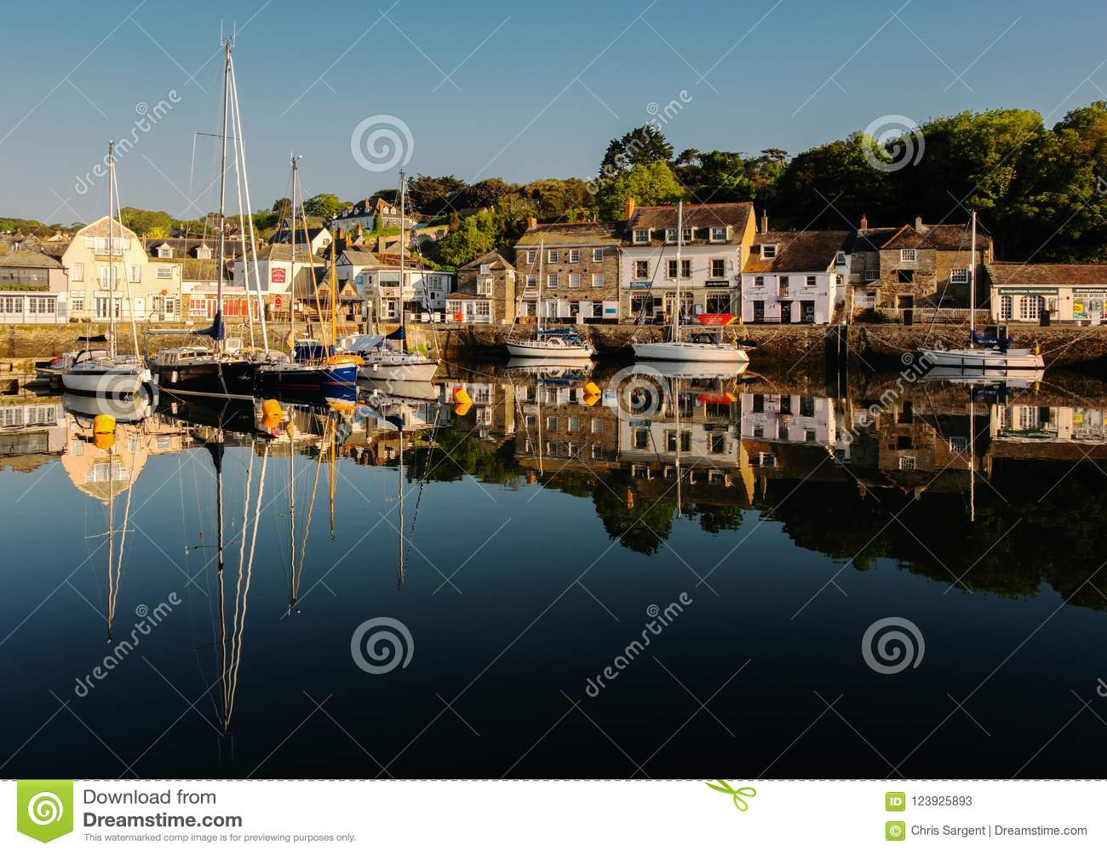 Padstow hamn i Cornwall