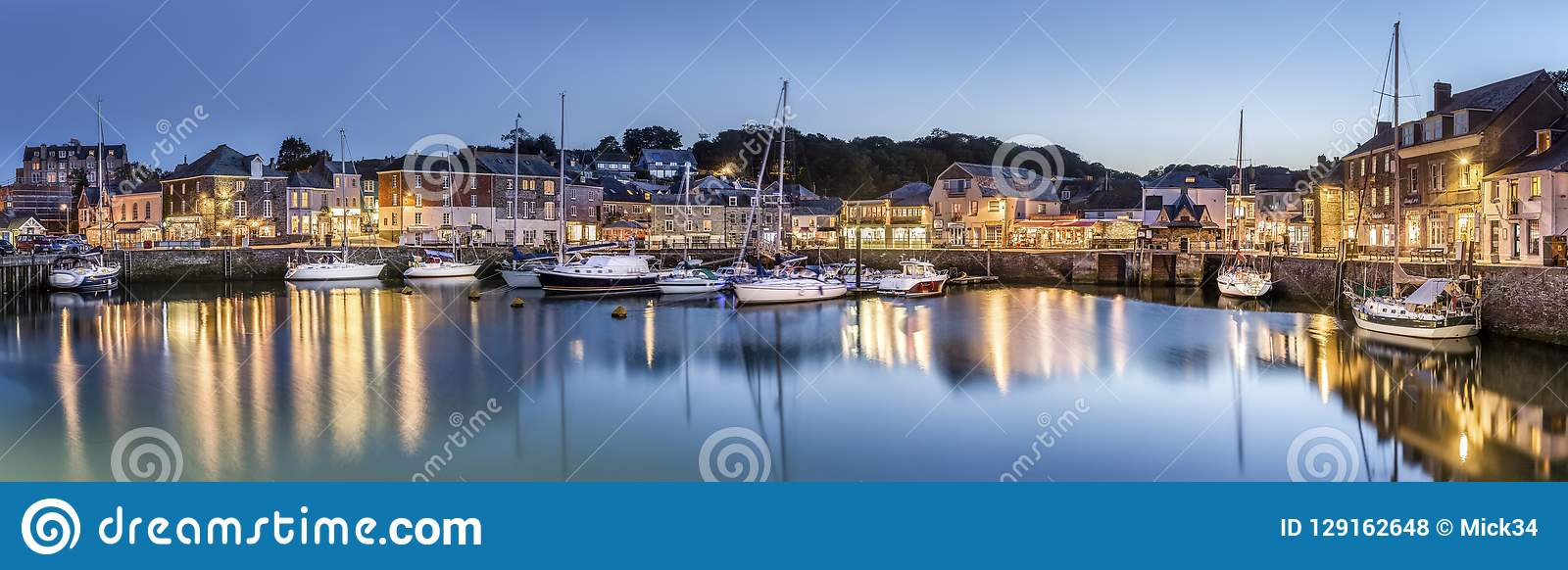 Padstow Harbour at Dusk, Cornwall