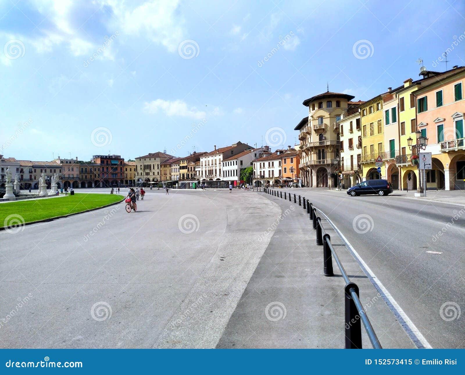 Padua «Prato della Valle «kwadrat Włochy