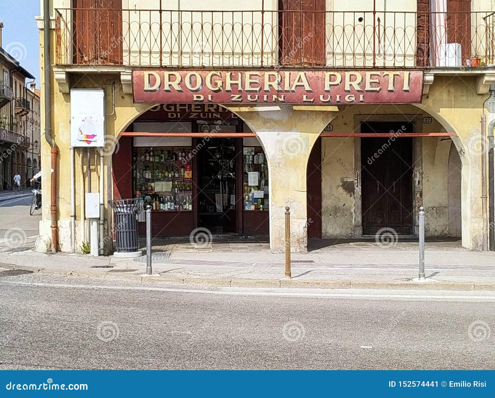 Paduas tipical altes Geschäft Italien