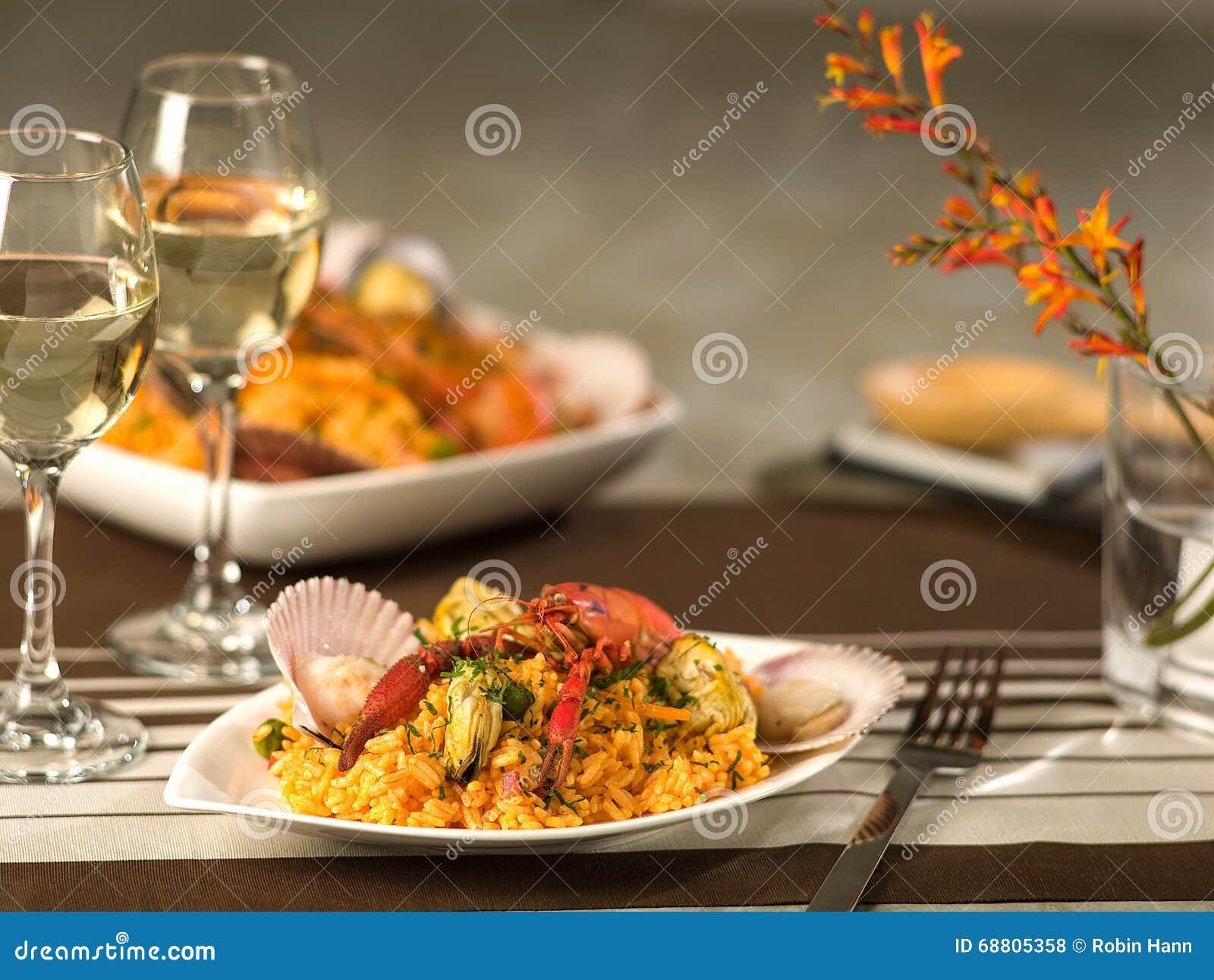 Paella dei frutti di mare