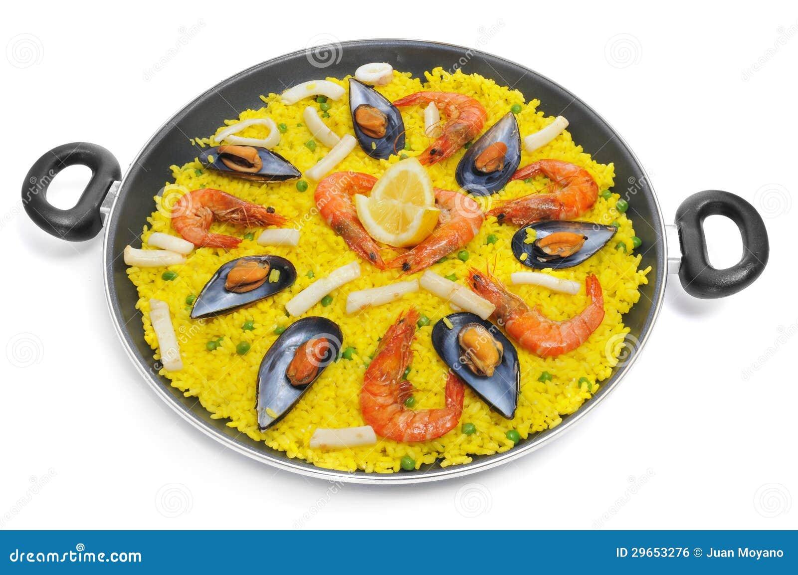 paella espagnole photo stock image du gourmet m diterran en 29653276. Black Bedroom Furniture Sets. Home Design Ideas