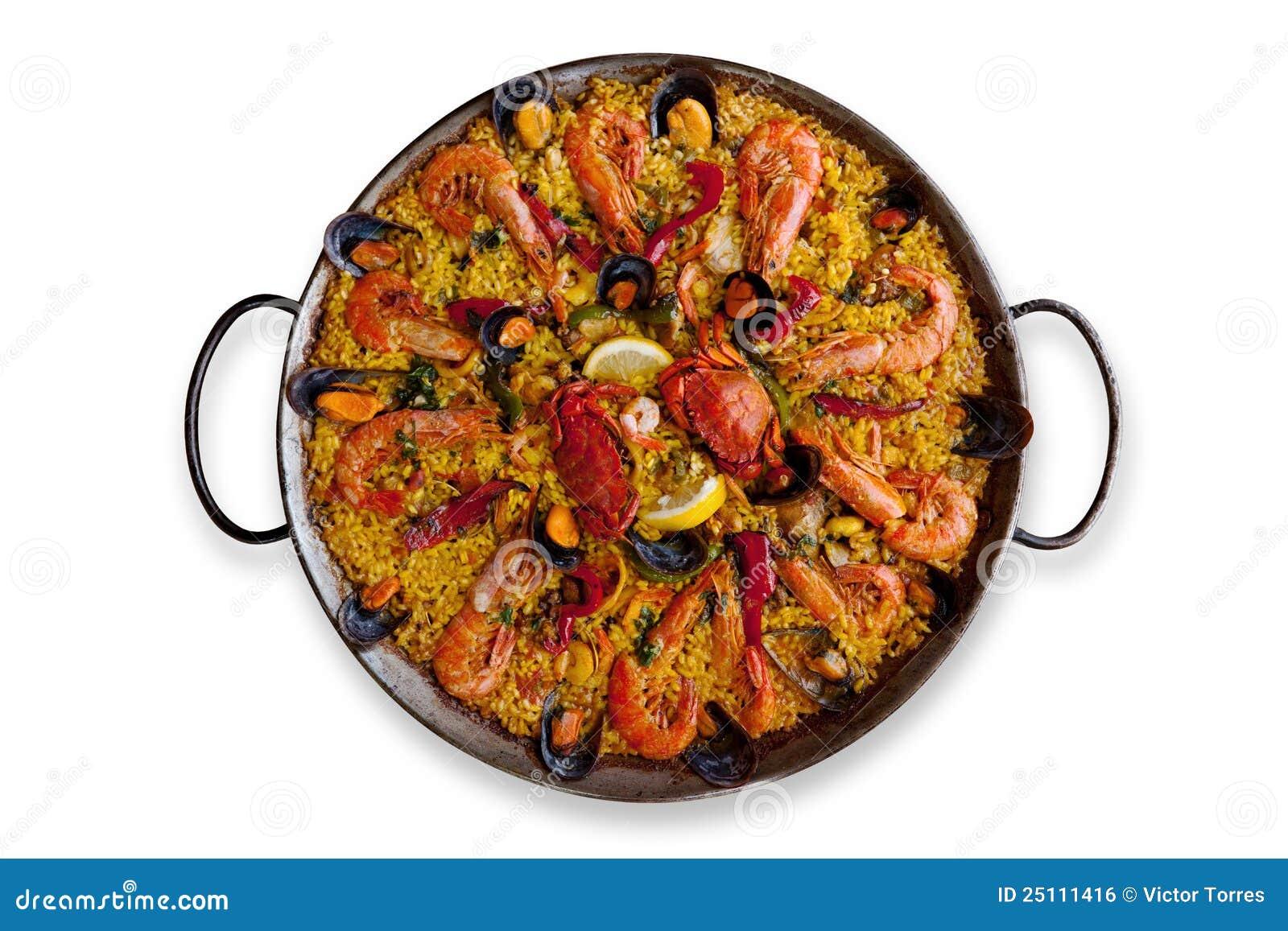paella espagnole traditionnelle d 39 isolement image libre de droits image 25111416. Black Bedroom Furniture Sets. Home Design Ideas