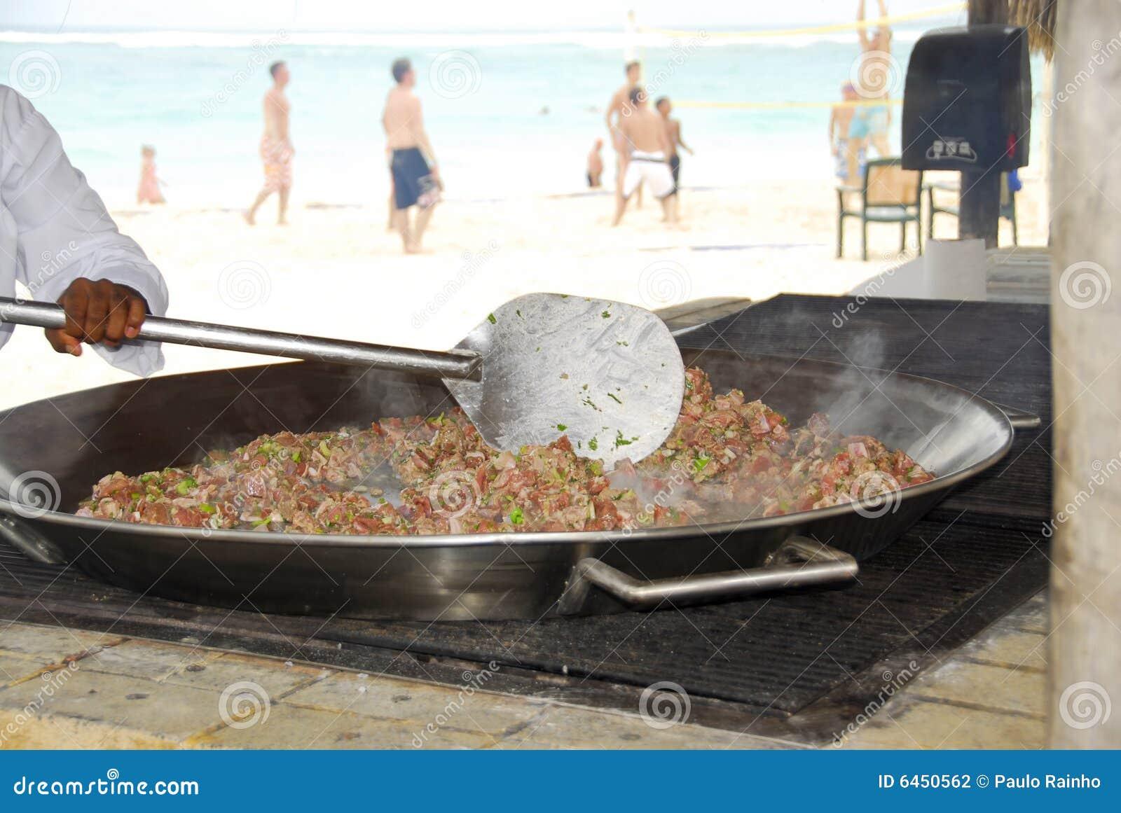 Paella owoce morza