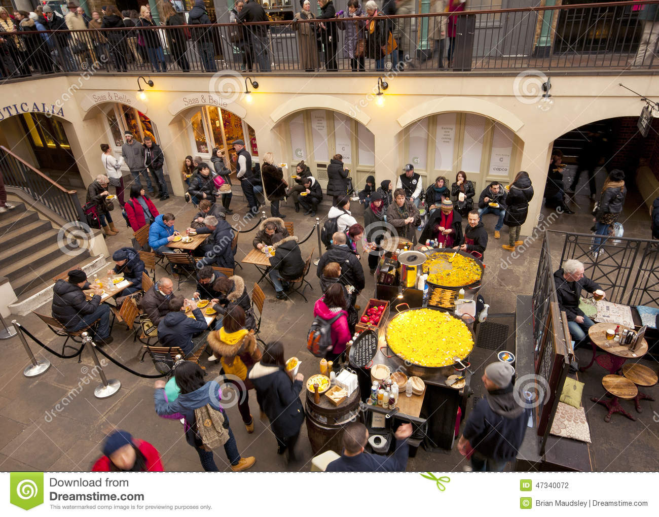 paella covent garden market london editorial image image