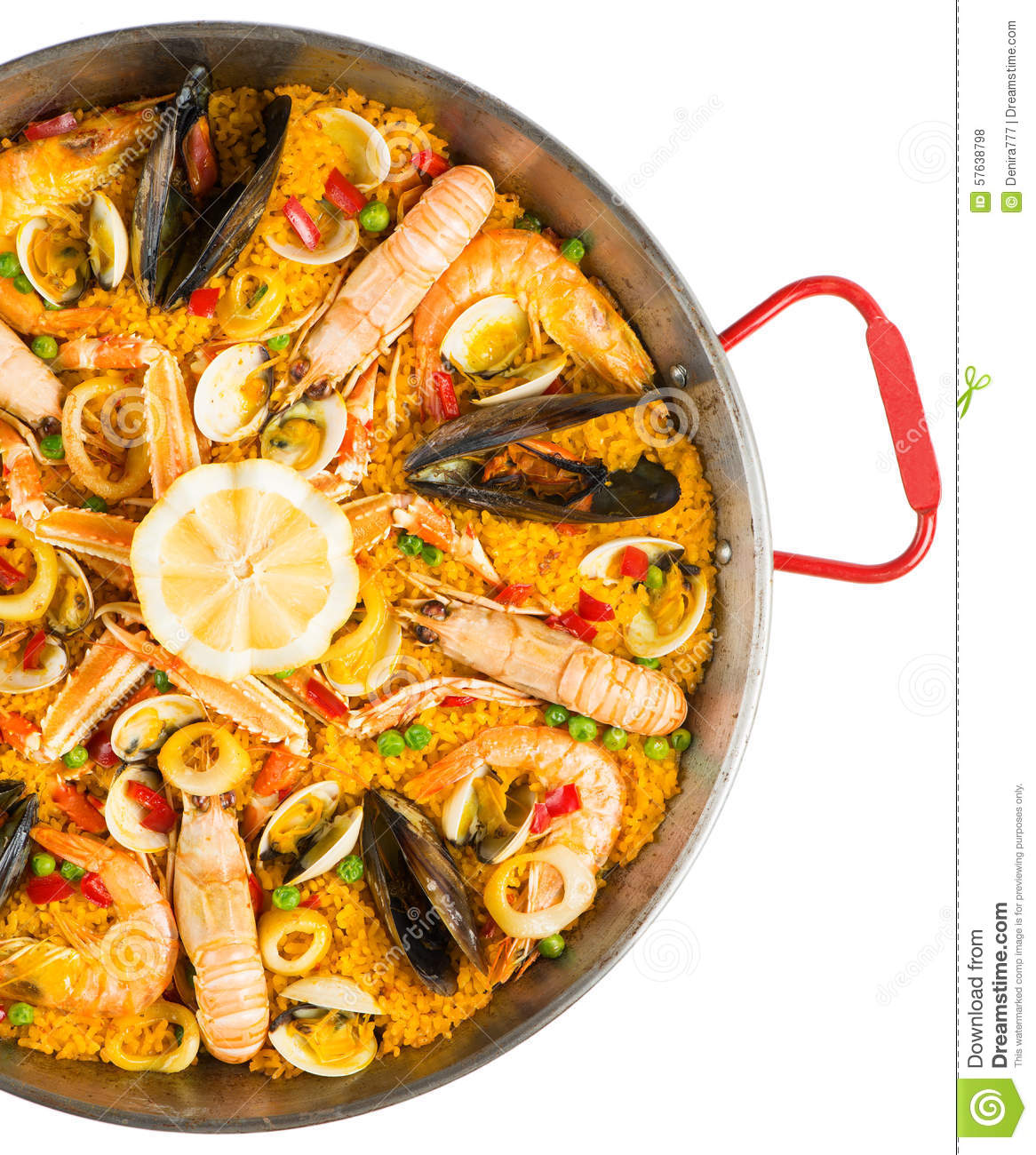 Paella traditional spanish food top view stock photo for Cuisine in spanish
