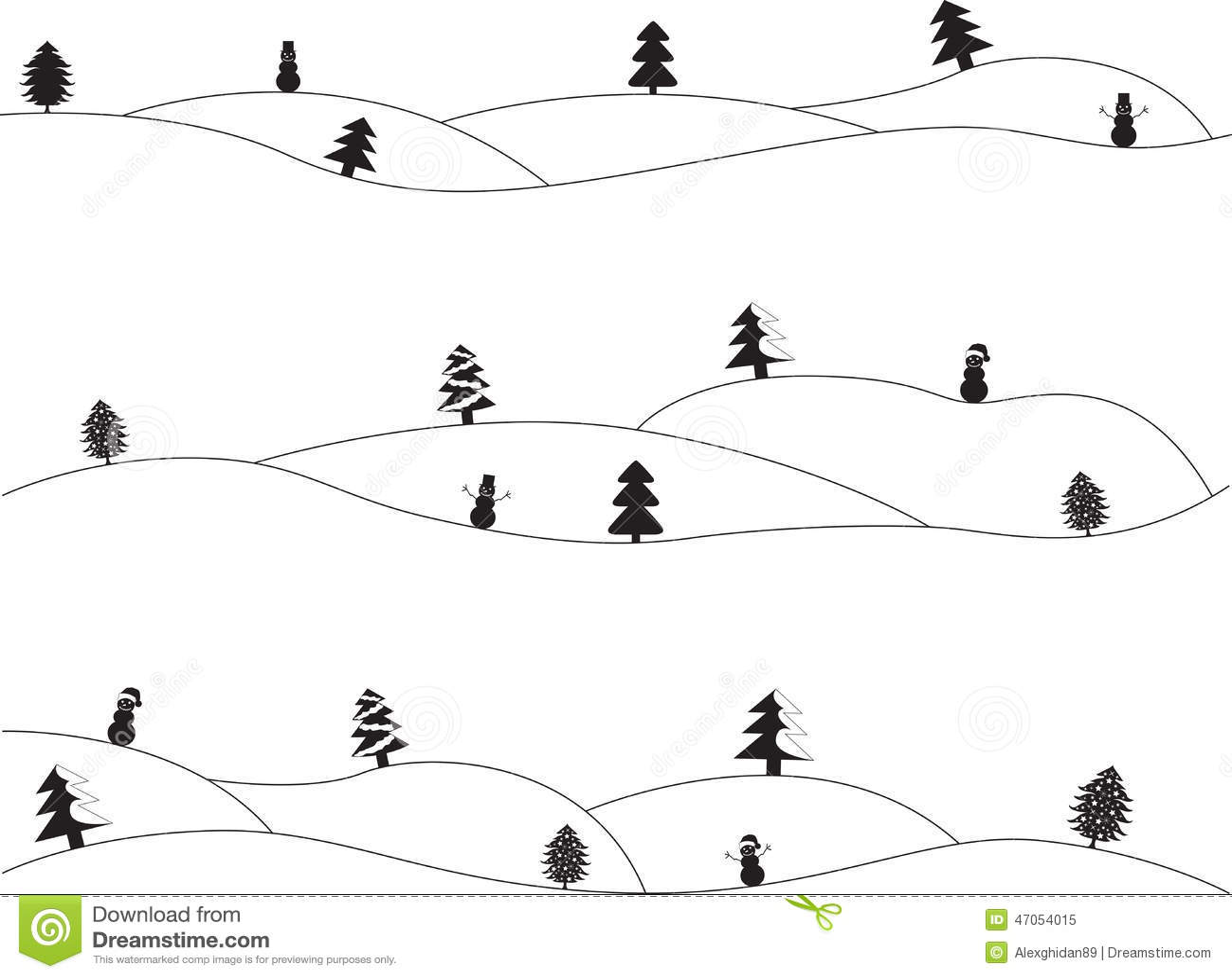 Paesaggi semplici di natale illustrazione vettoriale for Semplici paesaggi