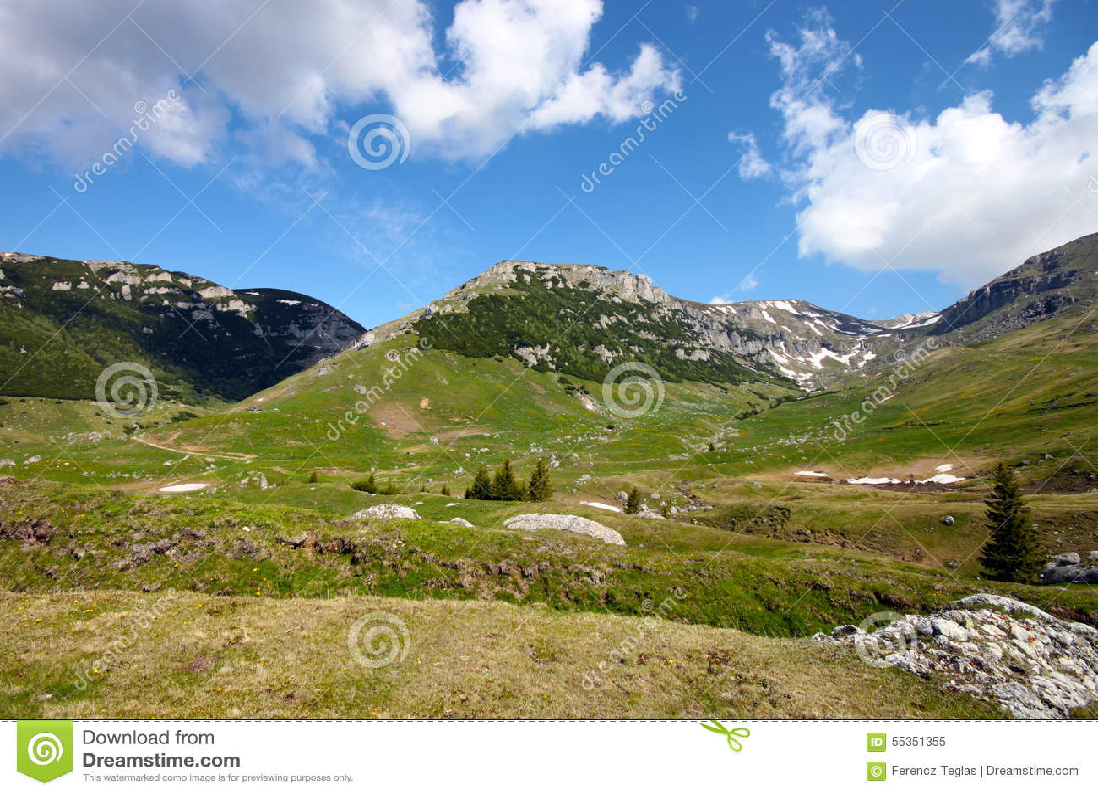 Paesaggio in Carpathians