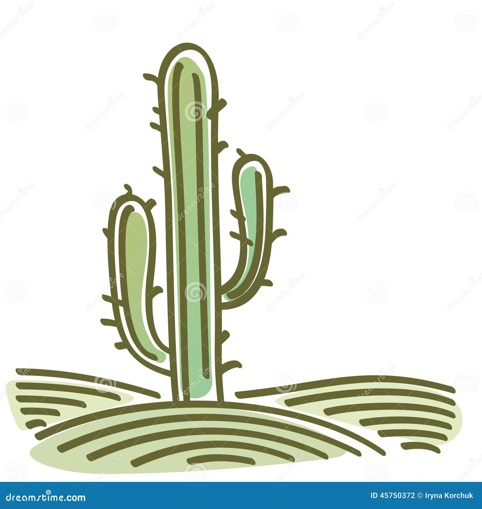 Paesaggio con il cactus