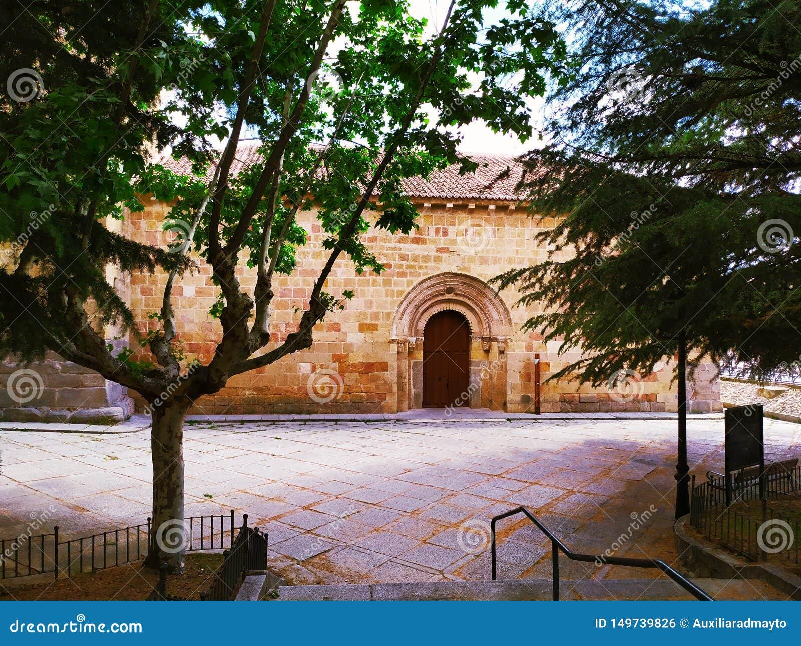 Paesaggio con il ofi San Nicolas della chiesa