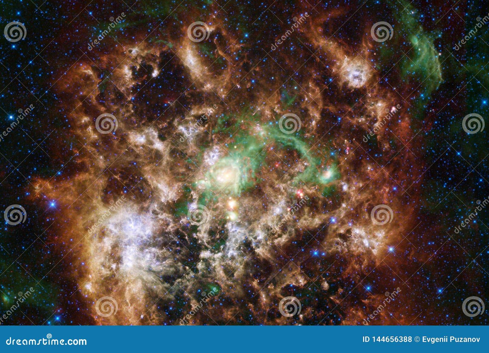 Paesaggio cosmico, carta da parati impressionante della fantascienza con spazio cosmico senza fine