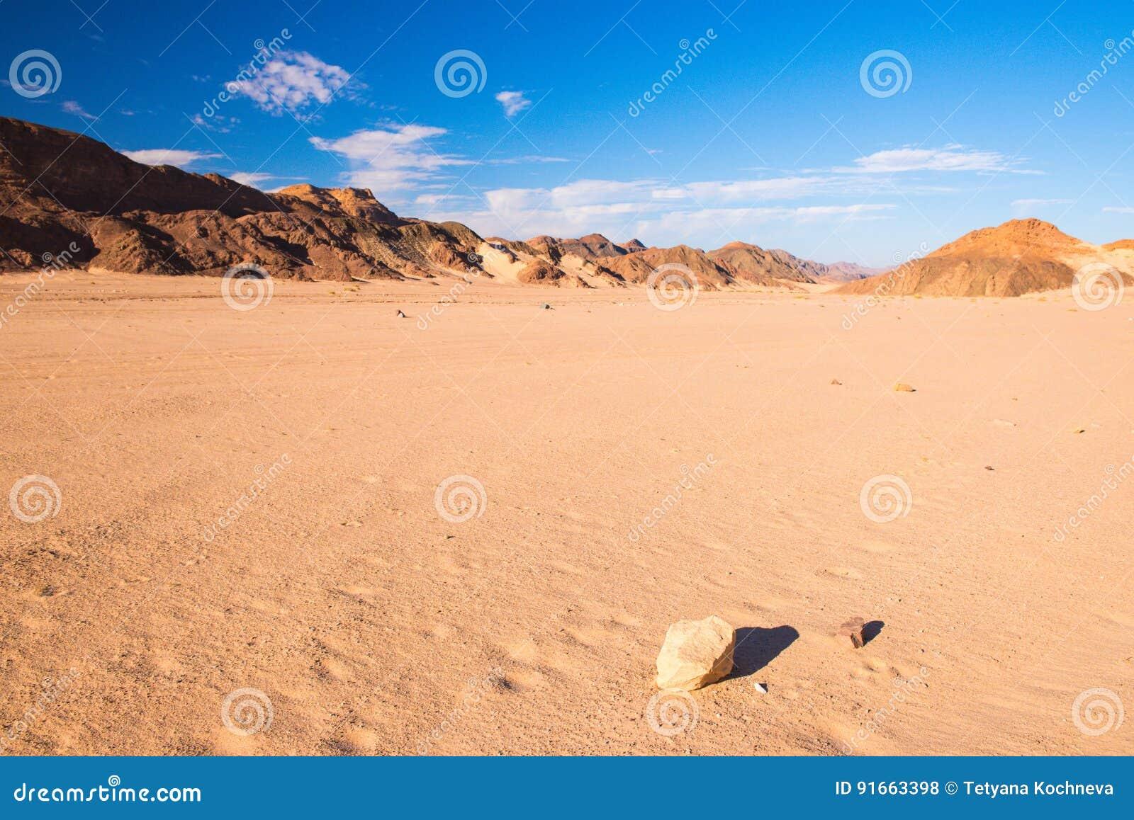 Paesaggio del deserto di Sinai