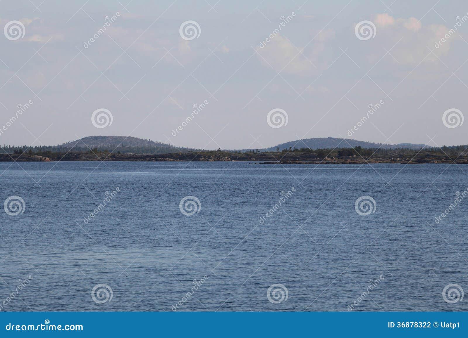 Download Paesaggio del mar Bianco fotografia stock. Immagine di contesto - 36878322