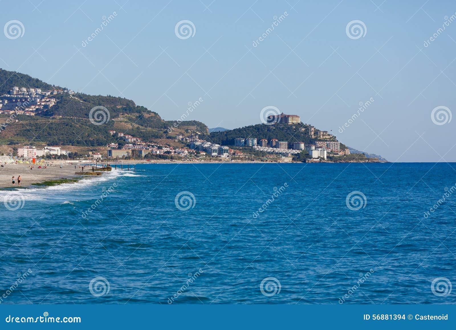 Paesaggio del mare di Alanya