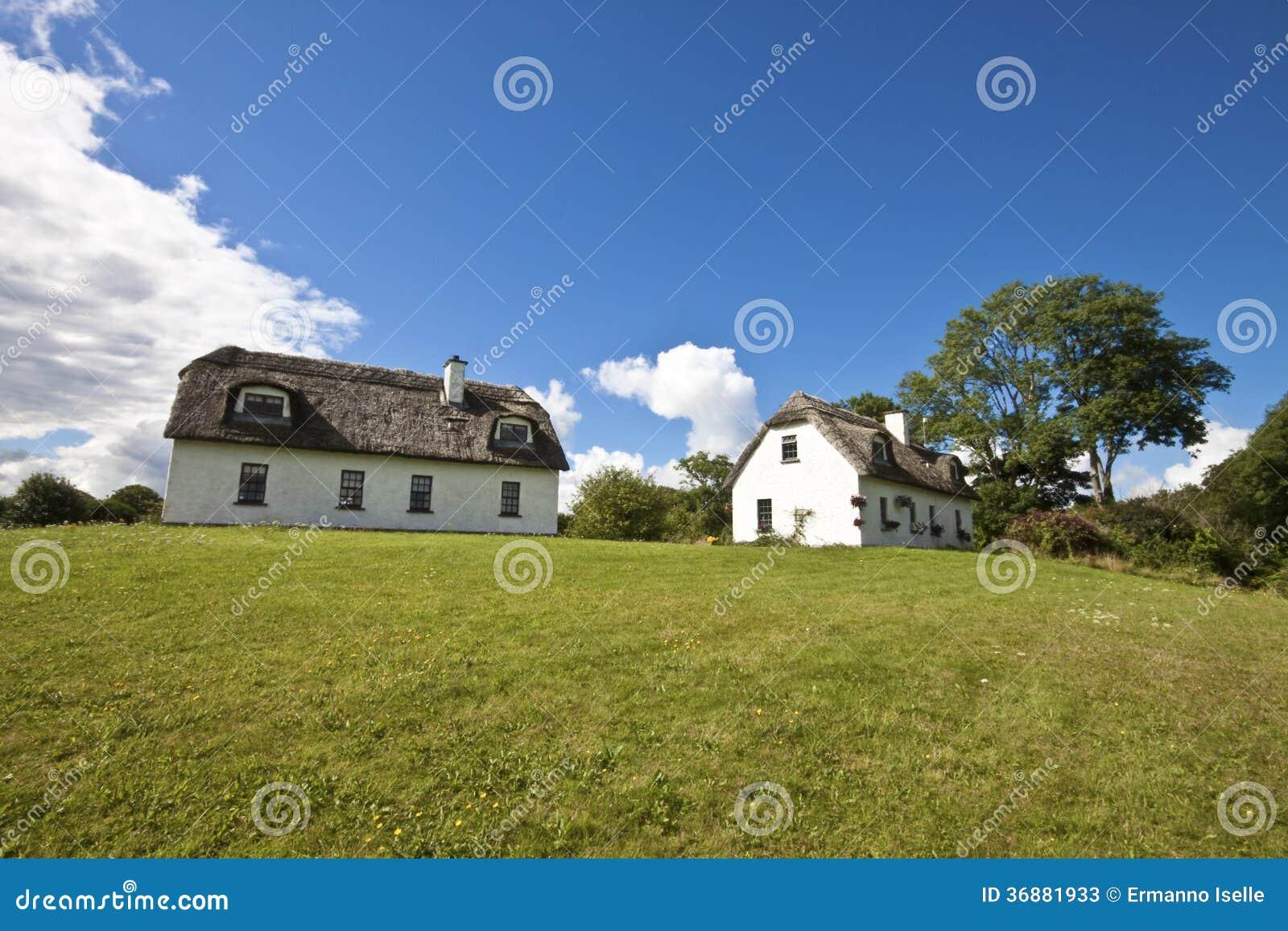 Download Paesaggio dell'Irlanda immagine stock. Immagine di case - 36881933