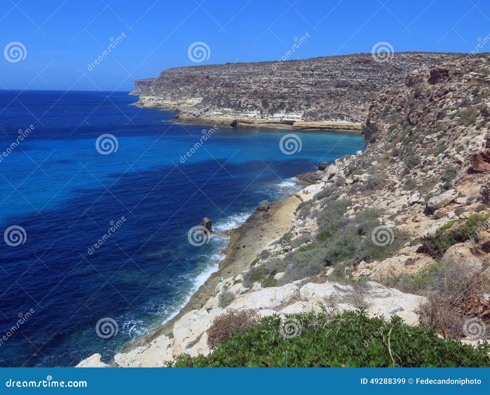Paesaggio dell isola di Lampedusa in Italia