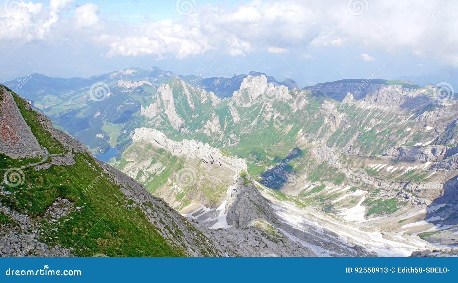 Paesaggio della montagna in Appenzellerland