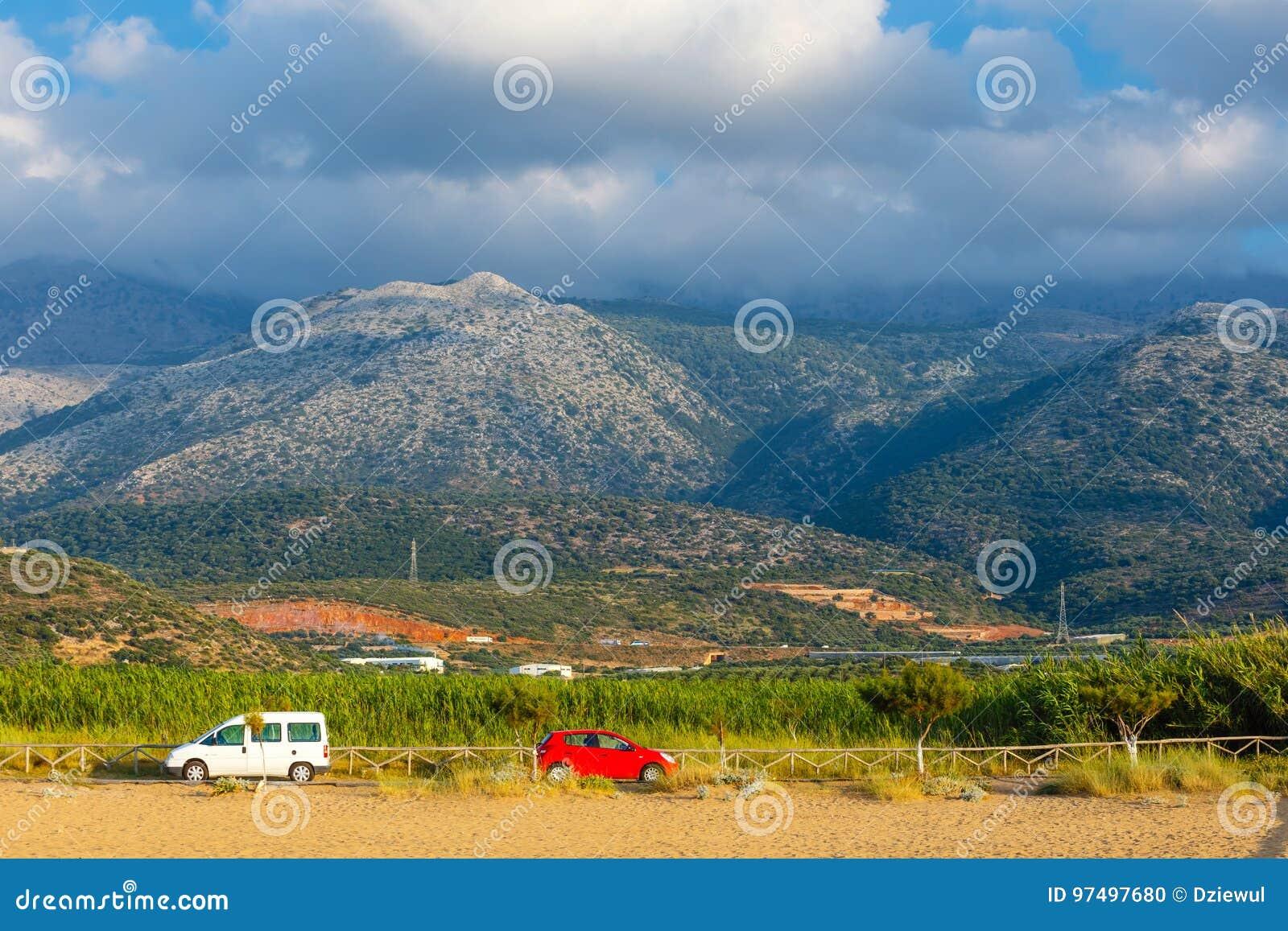 Paesaggio della montagna di Creta vicino a Malia, Grecia