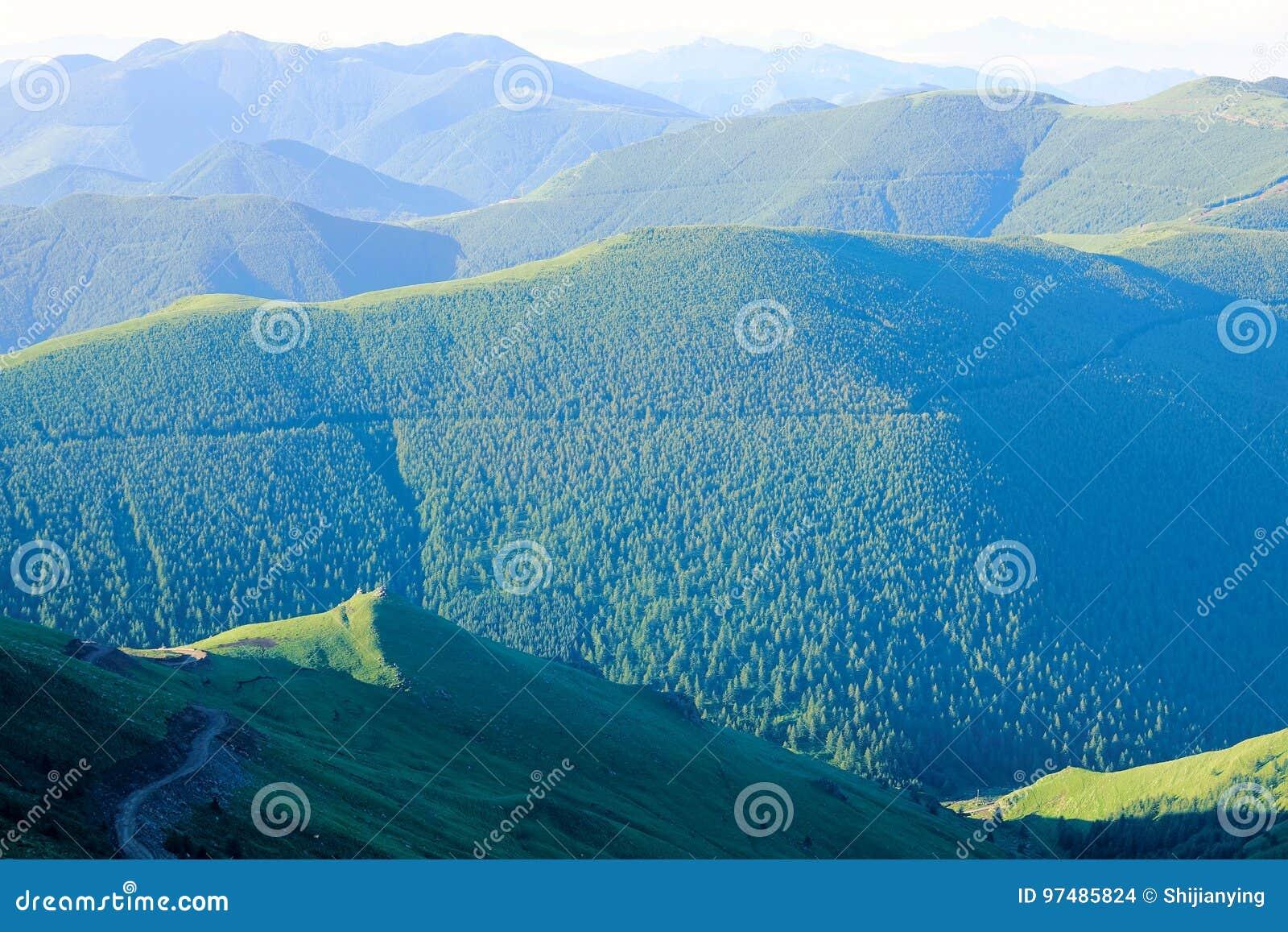 Paesaggio della montagna di Wutai