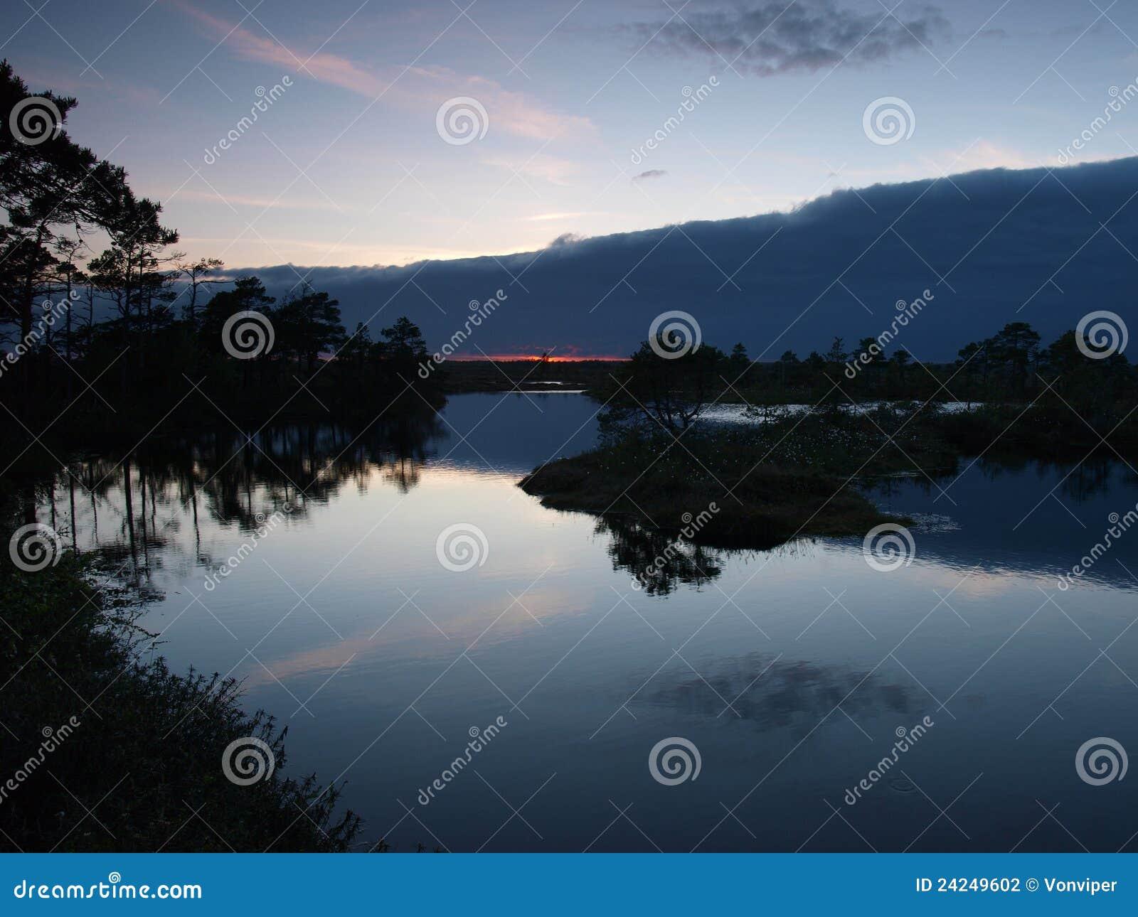 Paesaggio della palude di Marimetsa