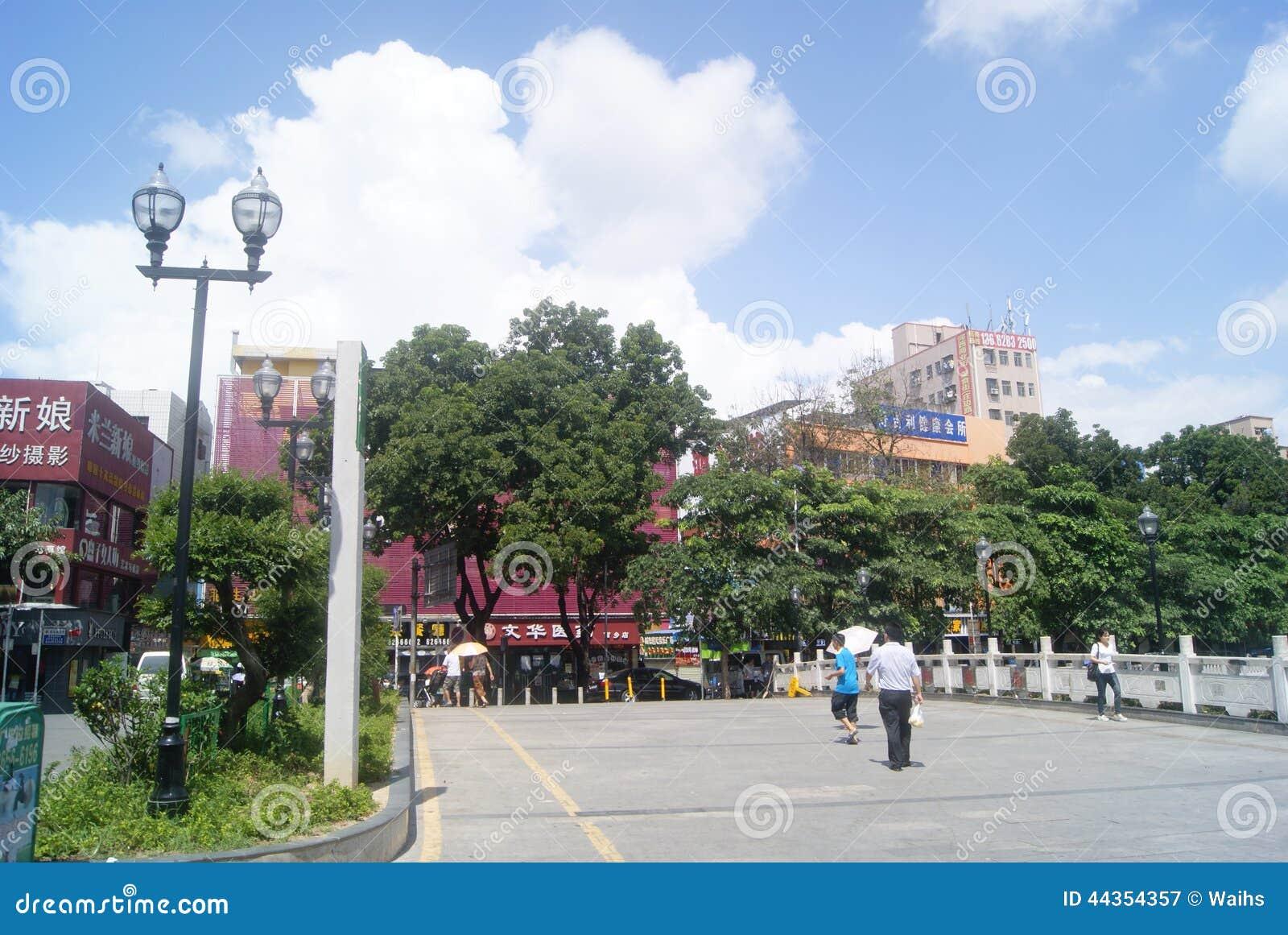 Paesaggio della via commerciale di Shenzhen Xixiang