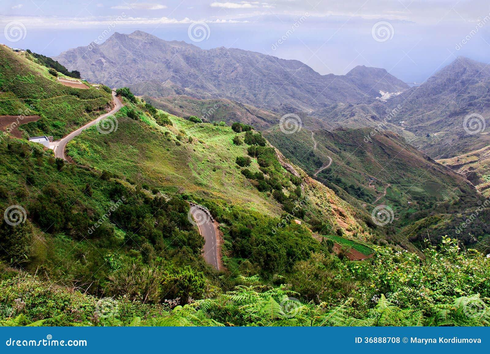 Download Paesaggio Delle Strade Nelle Montagne Fotografia Stock - Immagine di terra, collina: 36888708