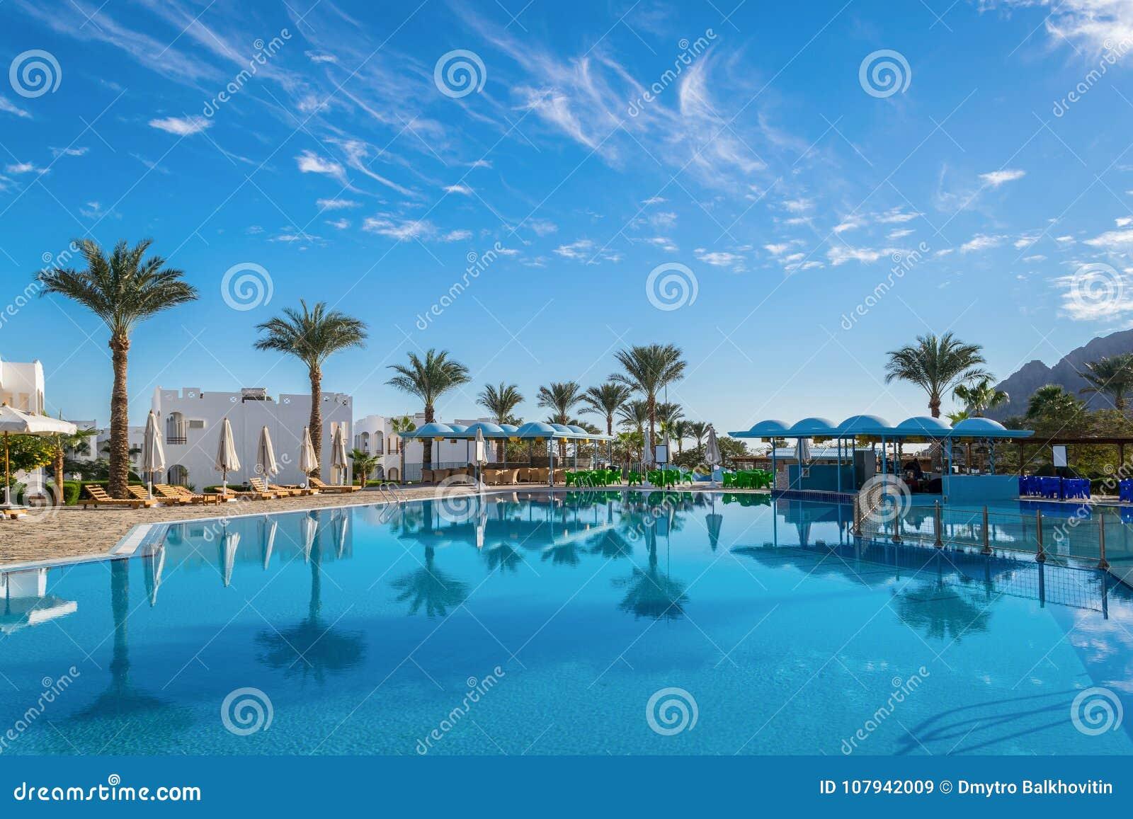 Paesaggi D Acqua Piscine paesaggio di estate con la cacca di nuoto immagine stock