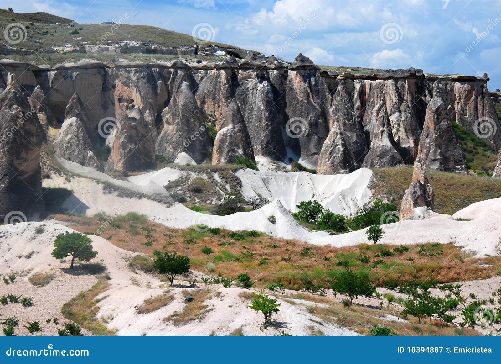 Paesaggio di geologia in Capadocia