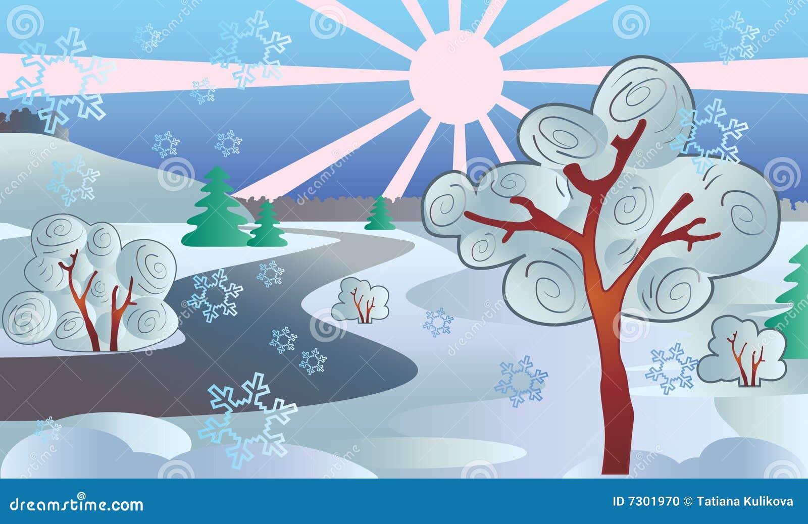 Paesaggio di inverno.