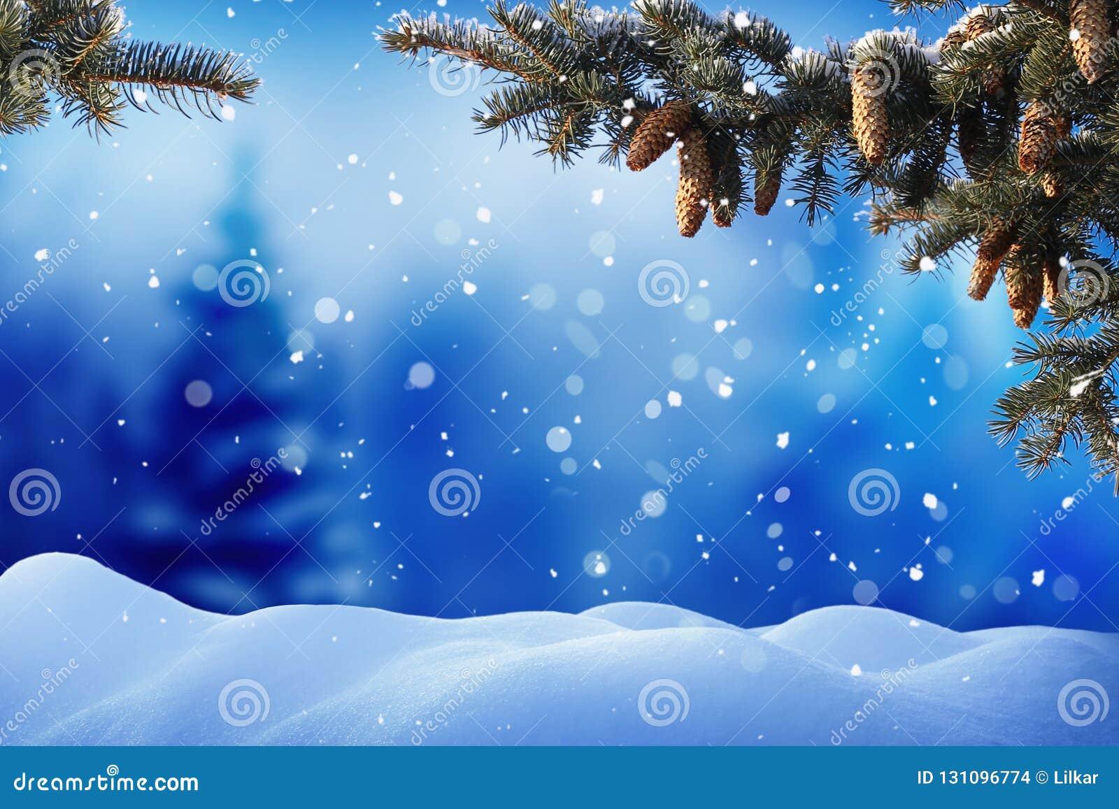 Immagini Natale Neve.Paesaggio Di Inverno Con Neve Priorita Bassa Di Natale Con L