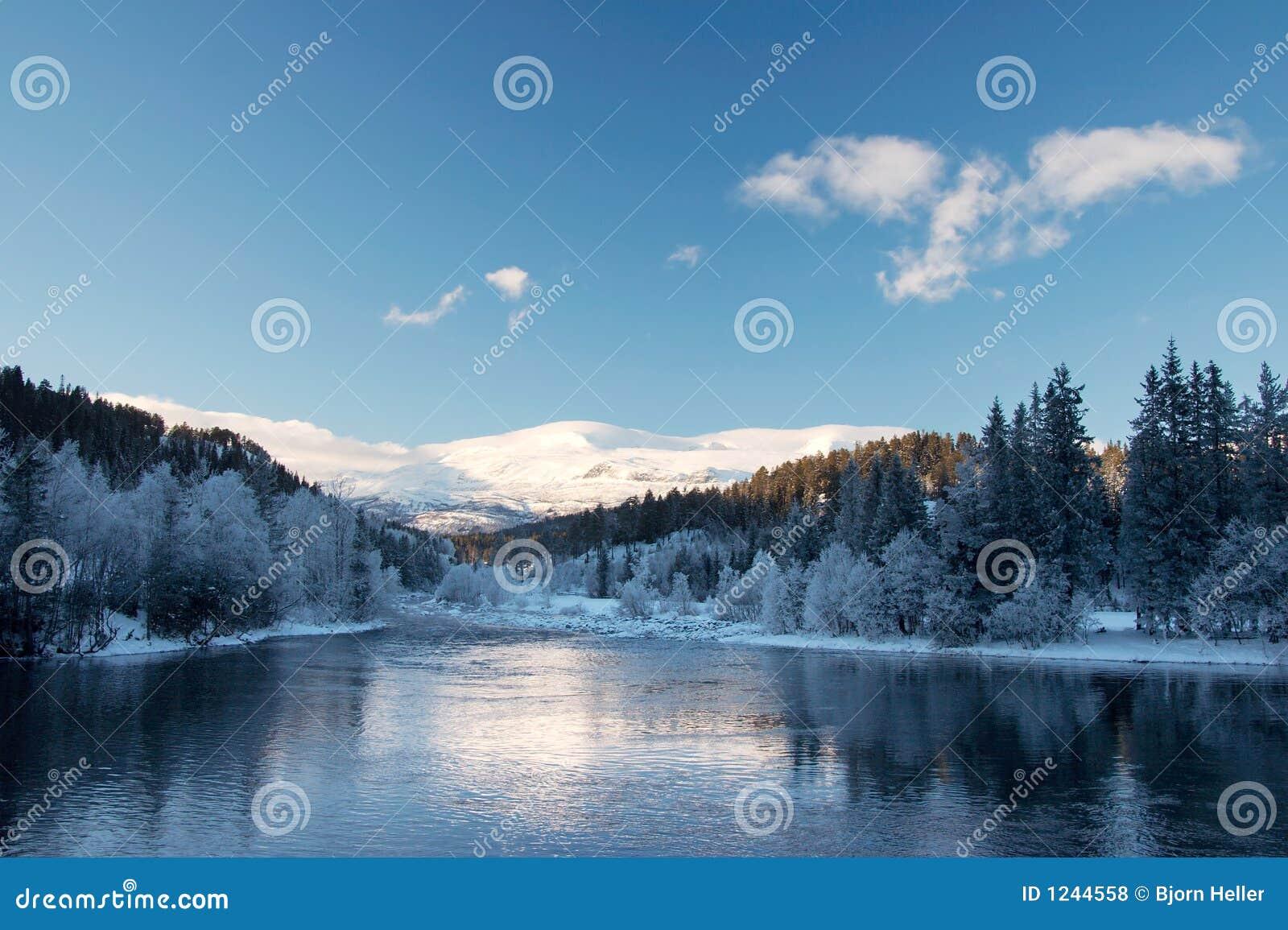 Paesaggio di inverno della montagna fotografie stock - Animali in inverno clipart ...