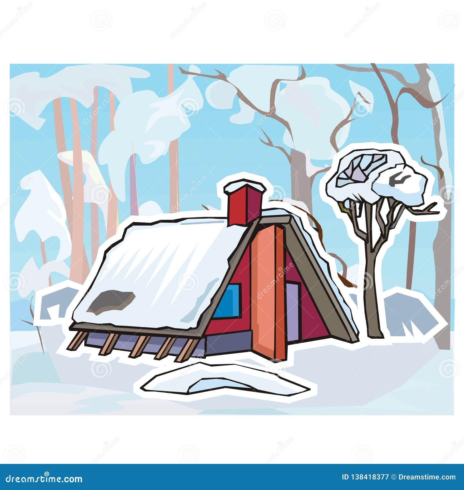 Paesaggio di inverno per le lezioni turche
