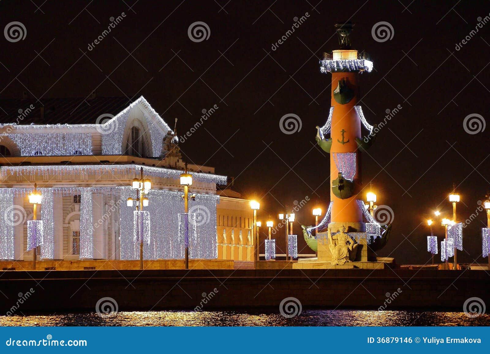 Download Paesaggio Di Notte In Sankt Pietroburgo Fotografia Stock - Immagine di scultura, petersburg: 36879146