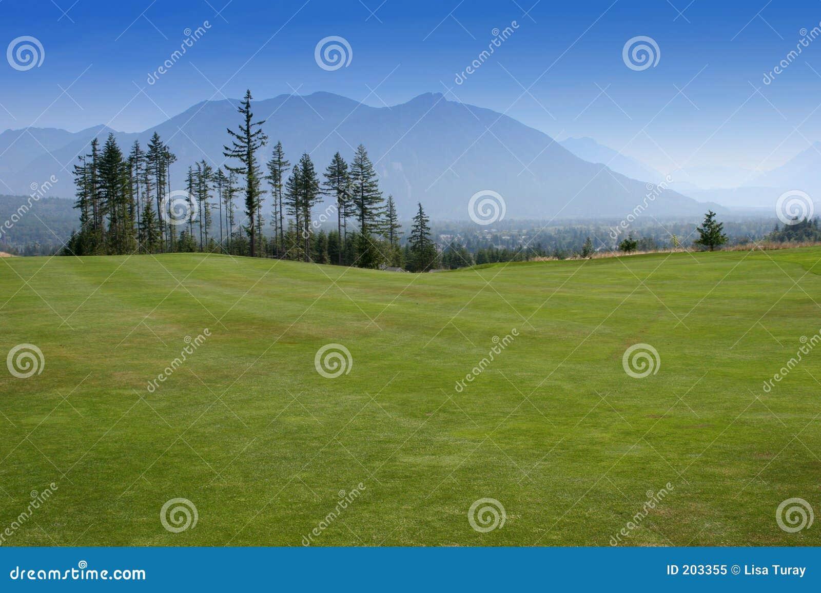 Paesaggio di terreno da golf