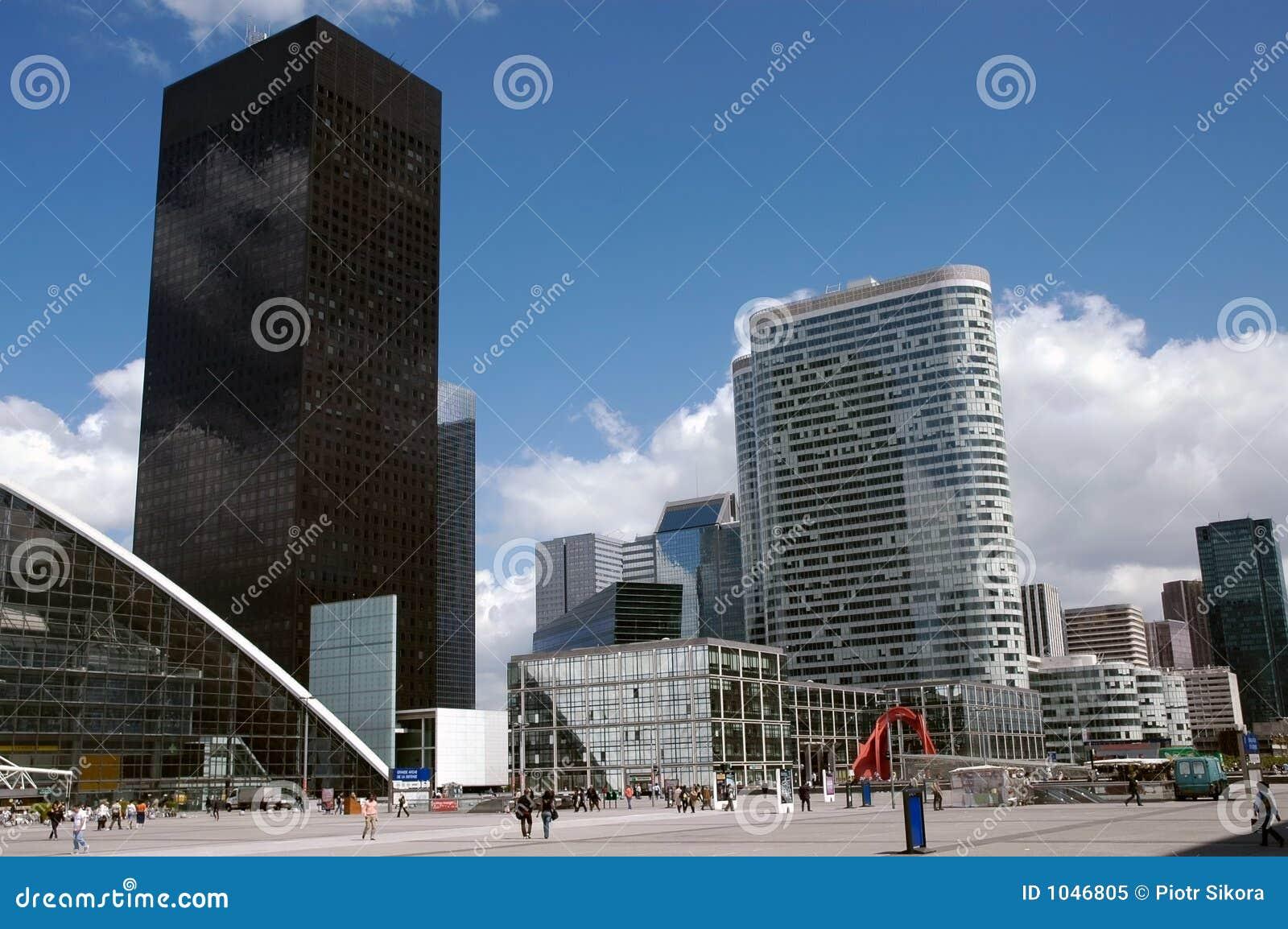 Paesaggio moderno dei grattacieli a parigi fotografia for Quartiere moderno parigi