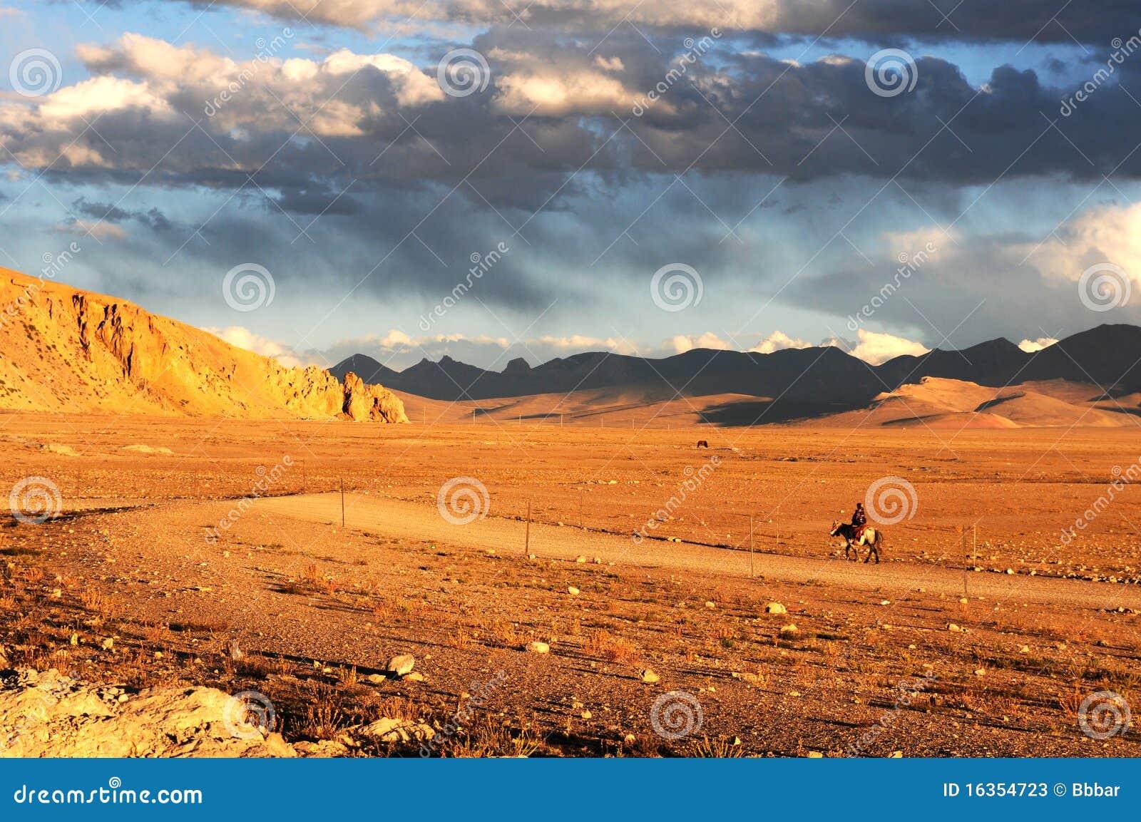 Paesaggio nel Tibet