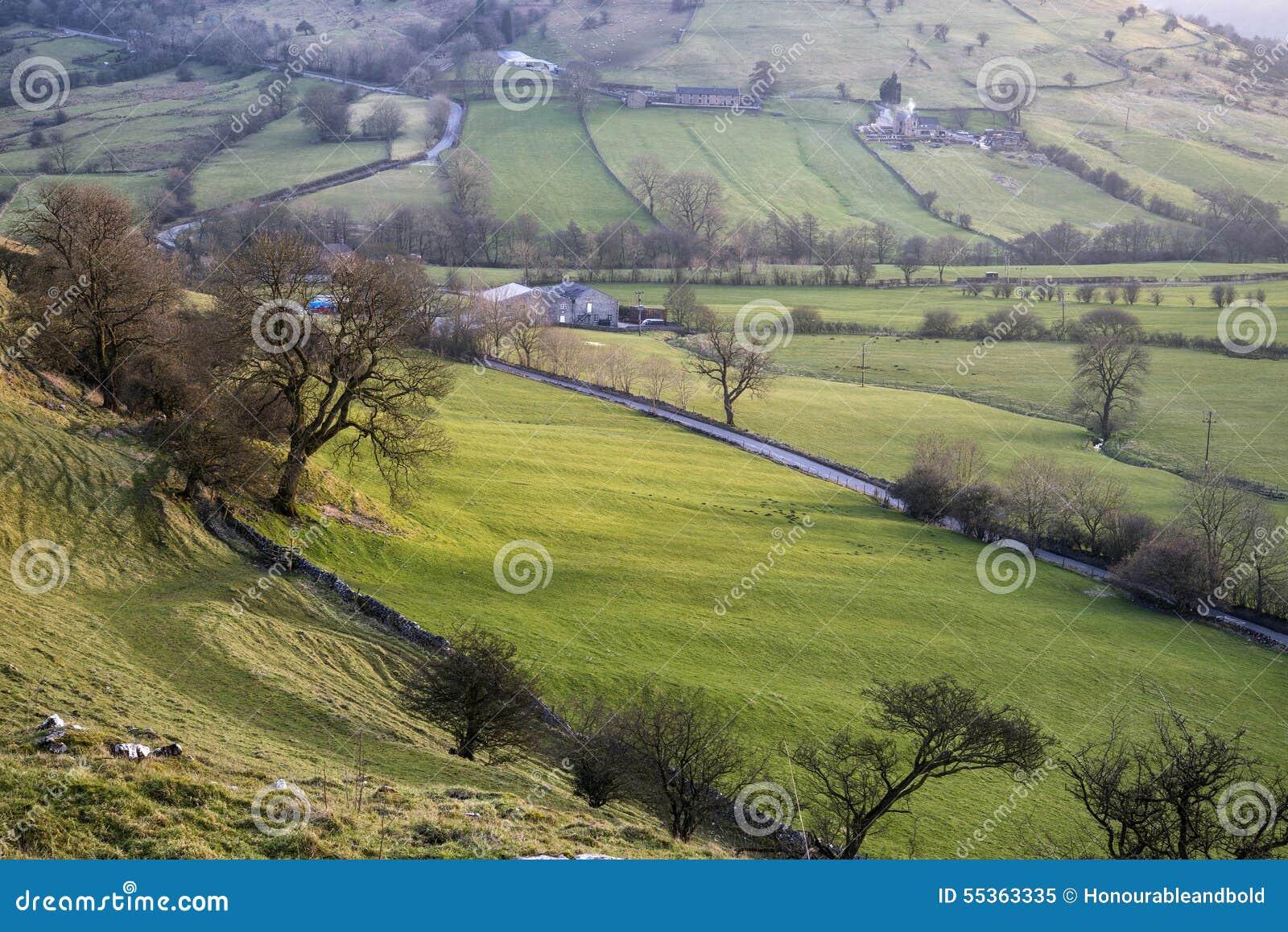 Paesaggio sbalorditivo della collina di Chrome e della collina di Parkhouse