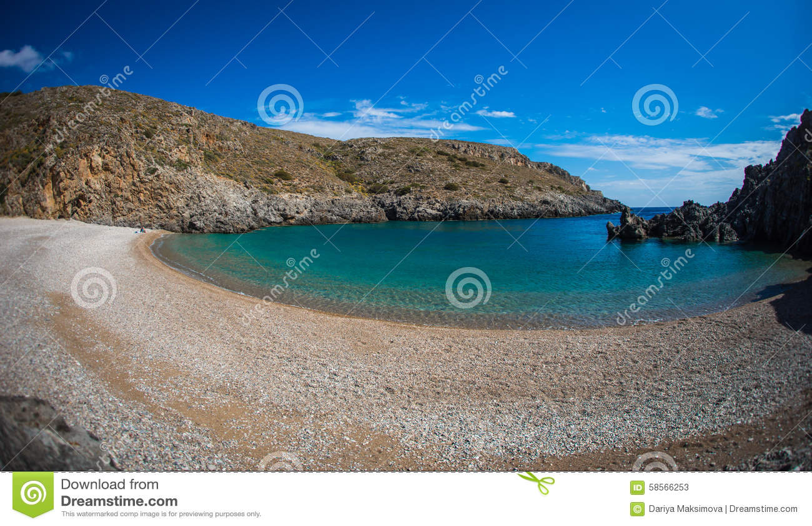 Paesaggio scenico con seaview, Cerigo, Grecia