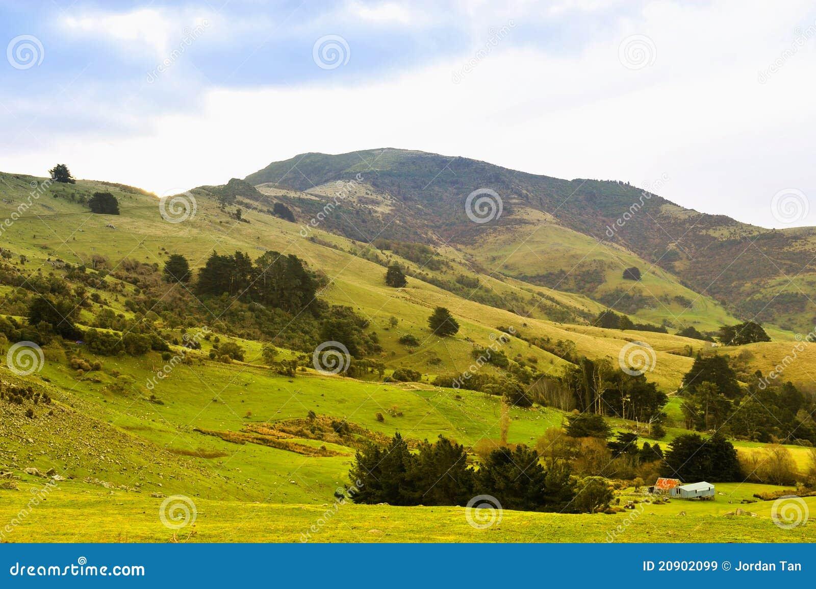 Paesaggio scenico del pendio di collina immagine stock for Planimetrie del paese di collina