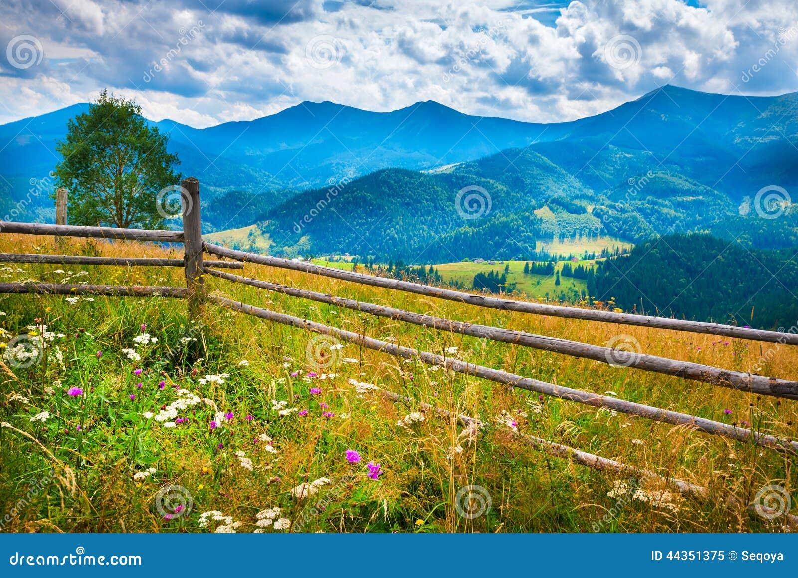 Paesaggio stupefacente della montagna