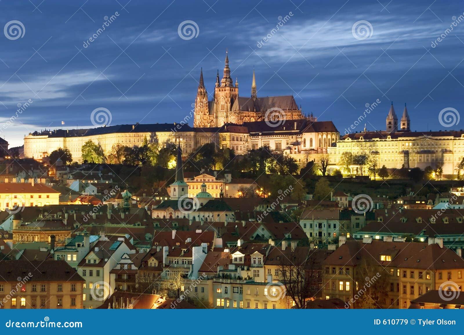 Paesaggio urbano del castello di Praga